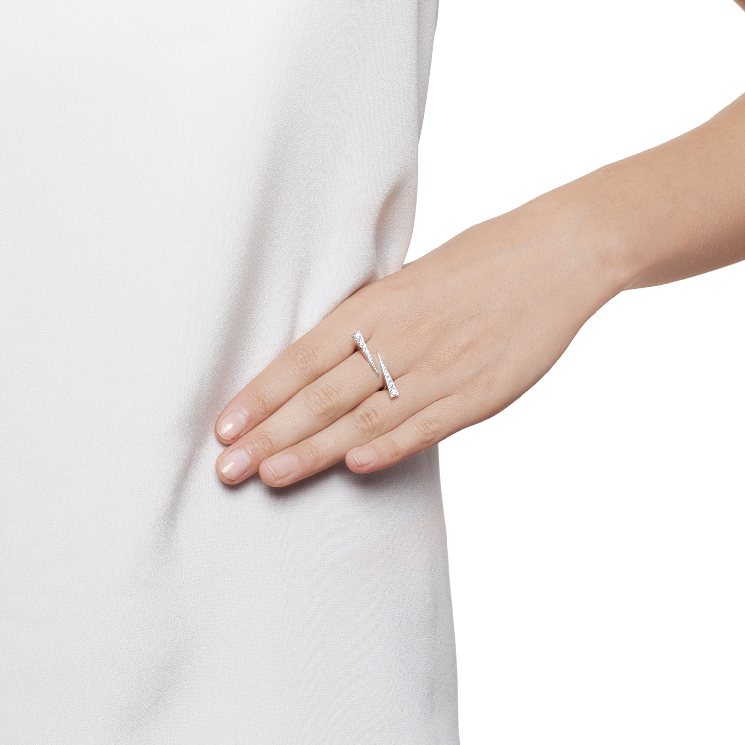Twin Spark Ring- Diamonds White Gold by Daou Jewellery on curated-crowd.com