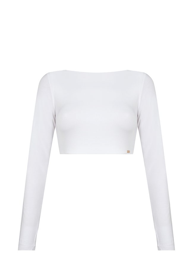 QUINN LONG SLEEVE CROP TOP by Stratum on curated-crowd.com