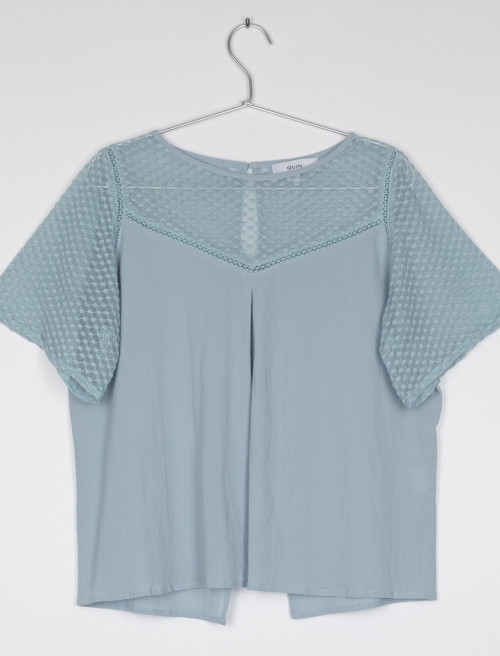 Emily Cotton and Linen Lace Tee by Quin on curated-crowd.com