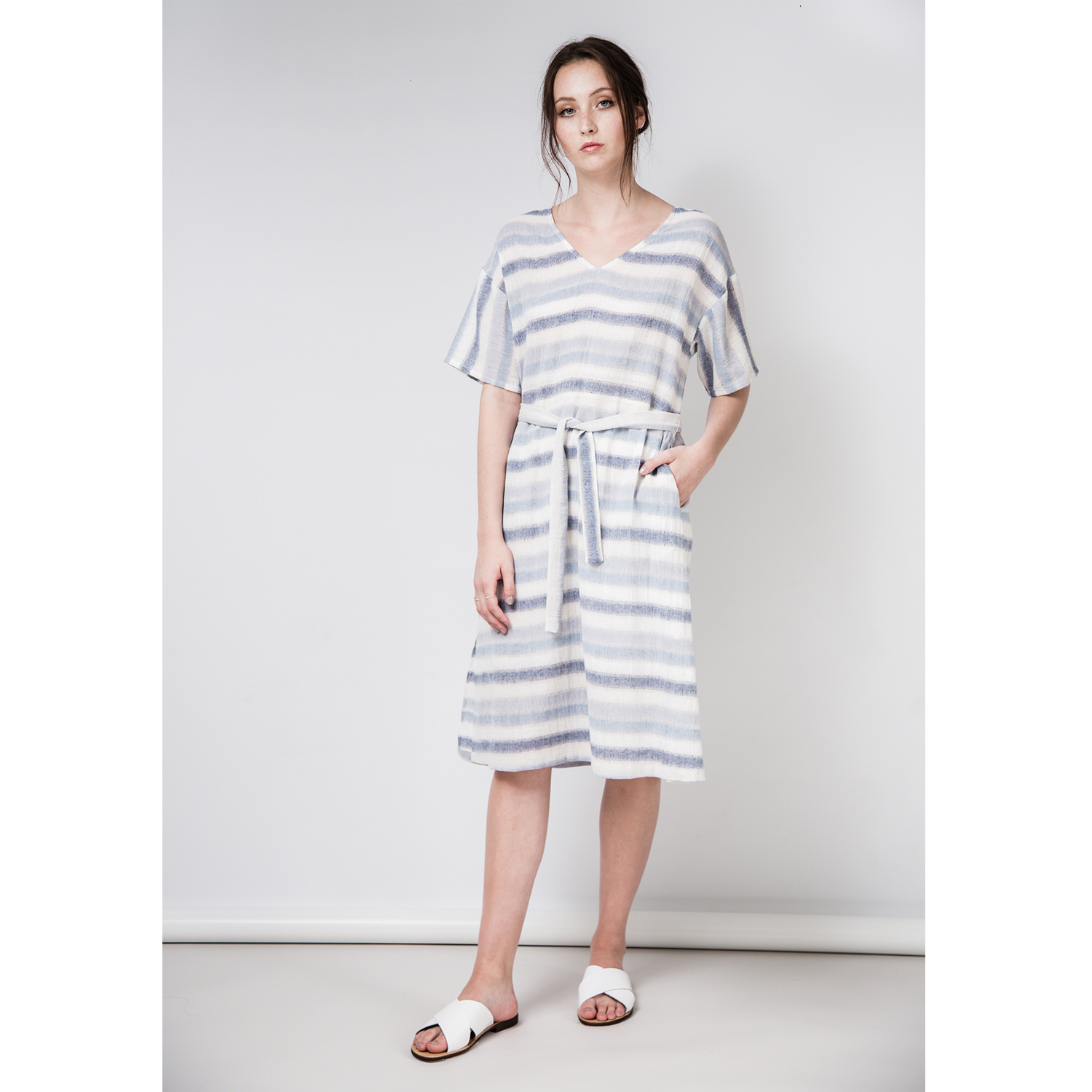 CARA Cotton Linen Dress by Quin on curated-crowd.com