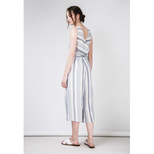 Cara Cotton Linen Jumpsuit by Quin on curated-crowd.com