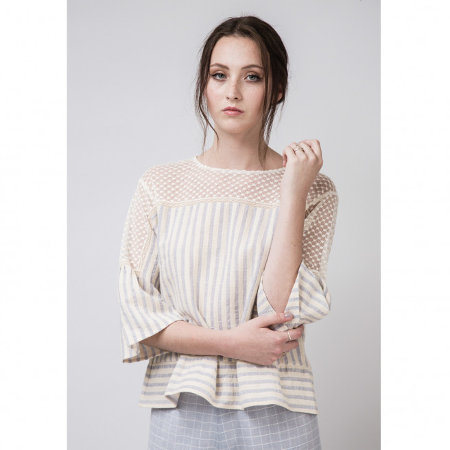 Sophie Cotton Lace Blouse by Quin on curated-crowd.com
