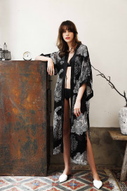 Royal Silk Long Kimono by Lucia Berutto on curated-crowd.com