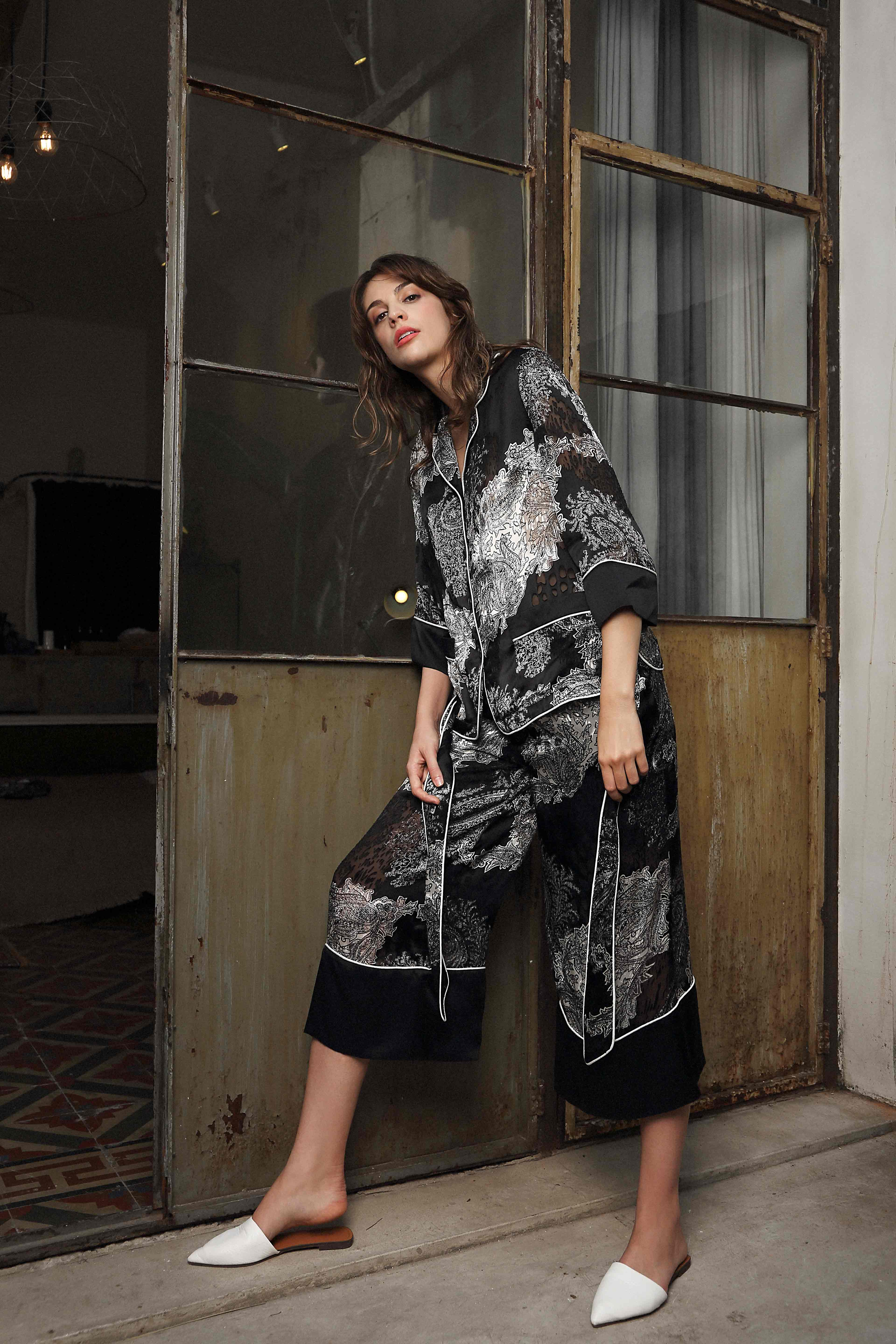 Silk Royal Long PJ by Lucia Berutto on curated-crowd.com