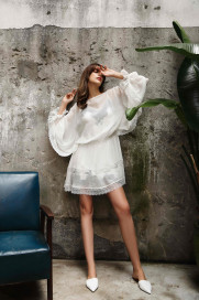 Silk & Lace Tunic by Lucia Berutto on curated-crowd.com
