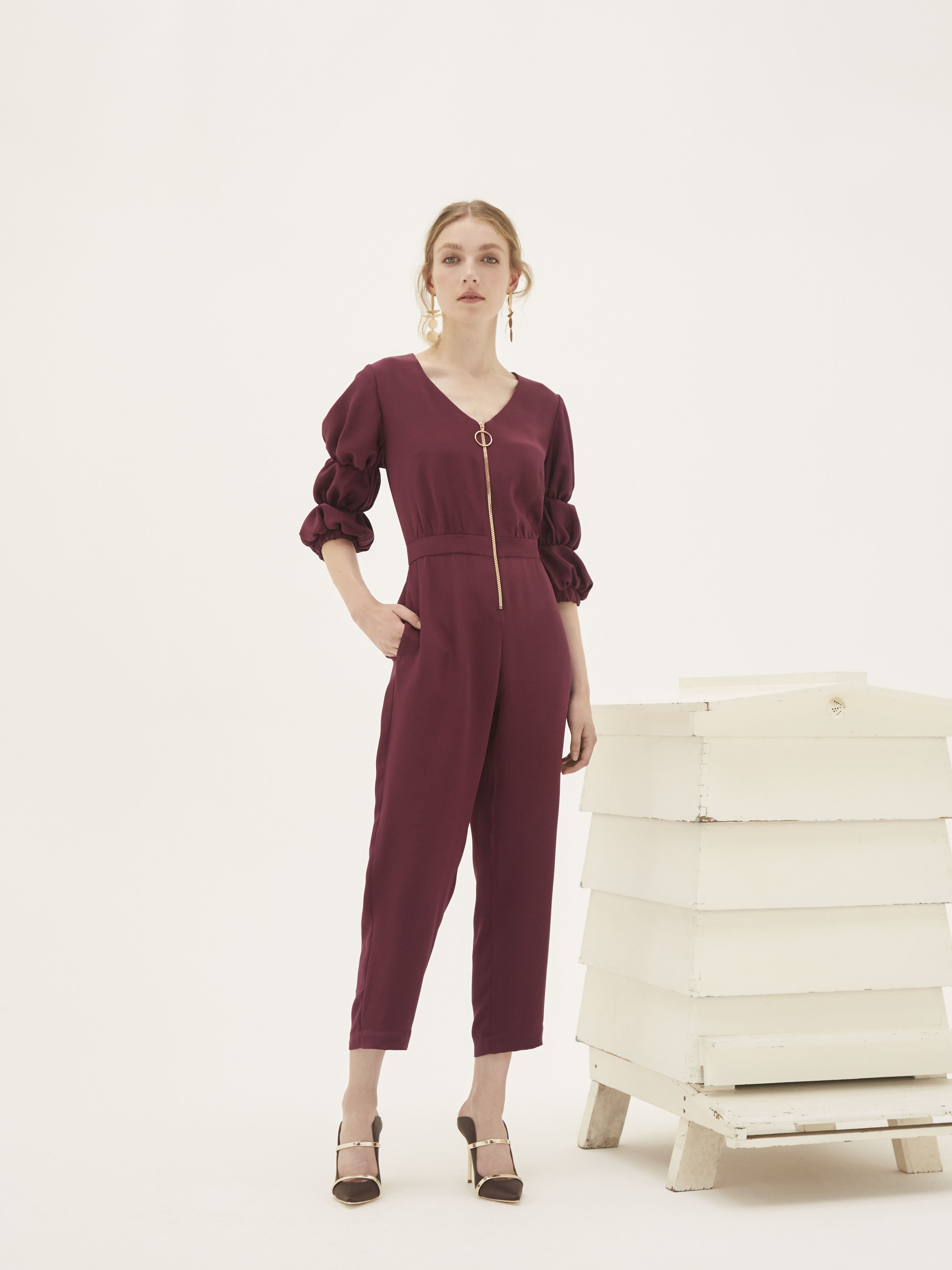 I'm a Goddess Jumpsuit by Bozena Jankowska on curated-crowd.com