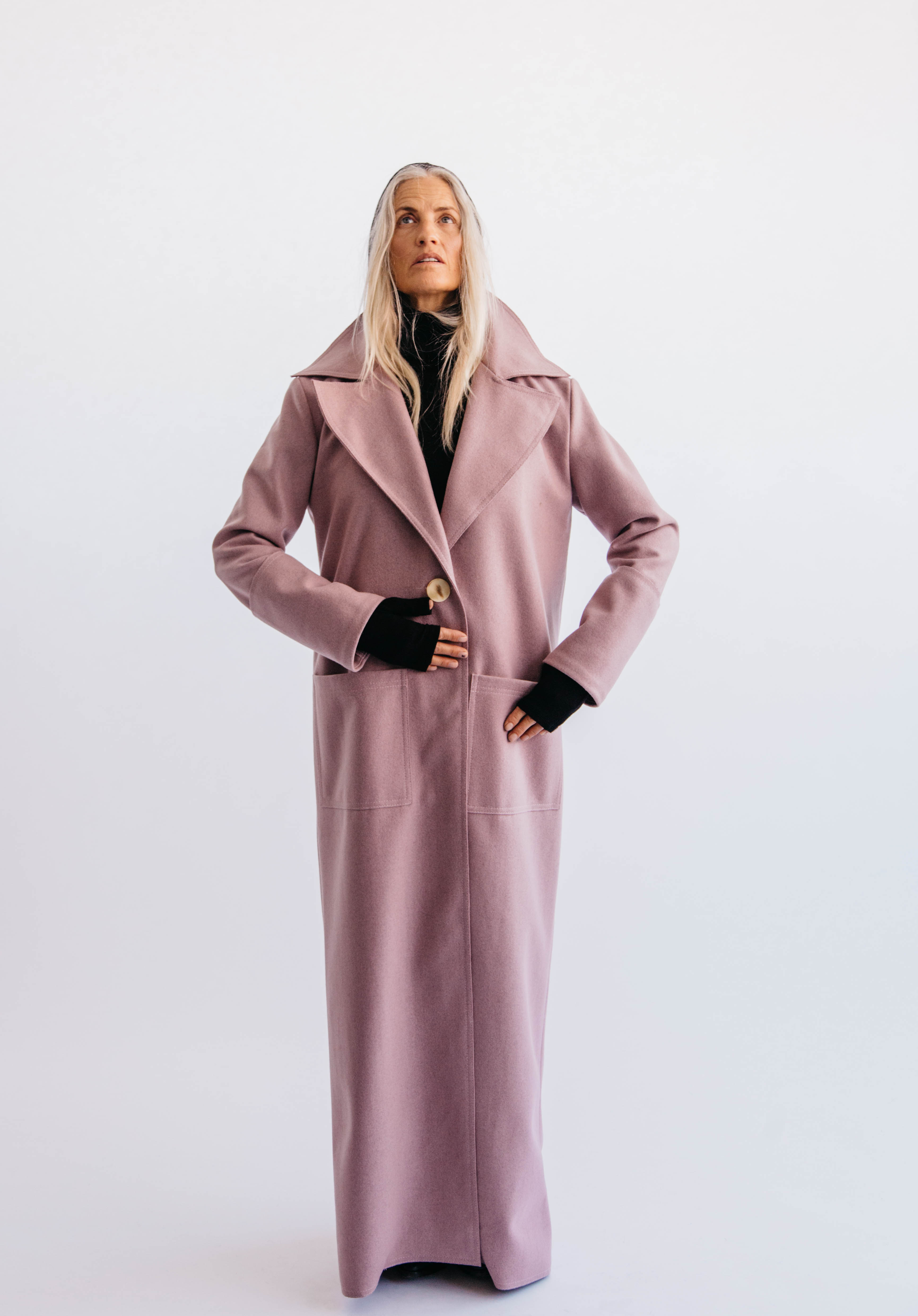 Sleek In Lilac Coat by Mariam Alsibai on curated-crowd.com