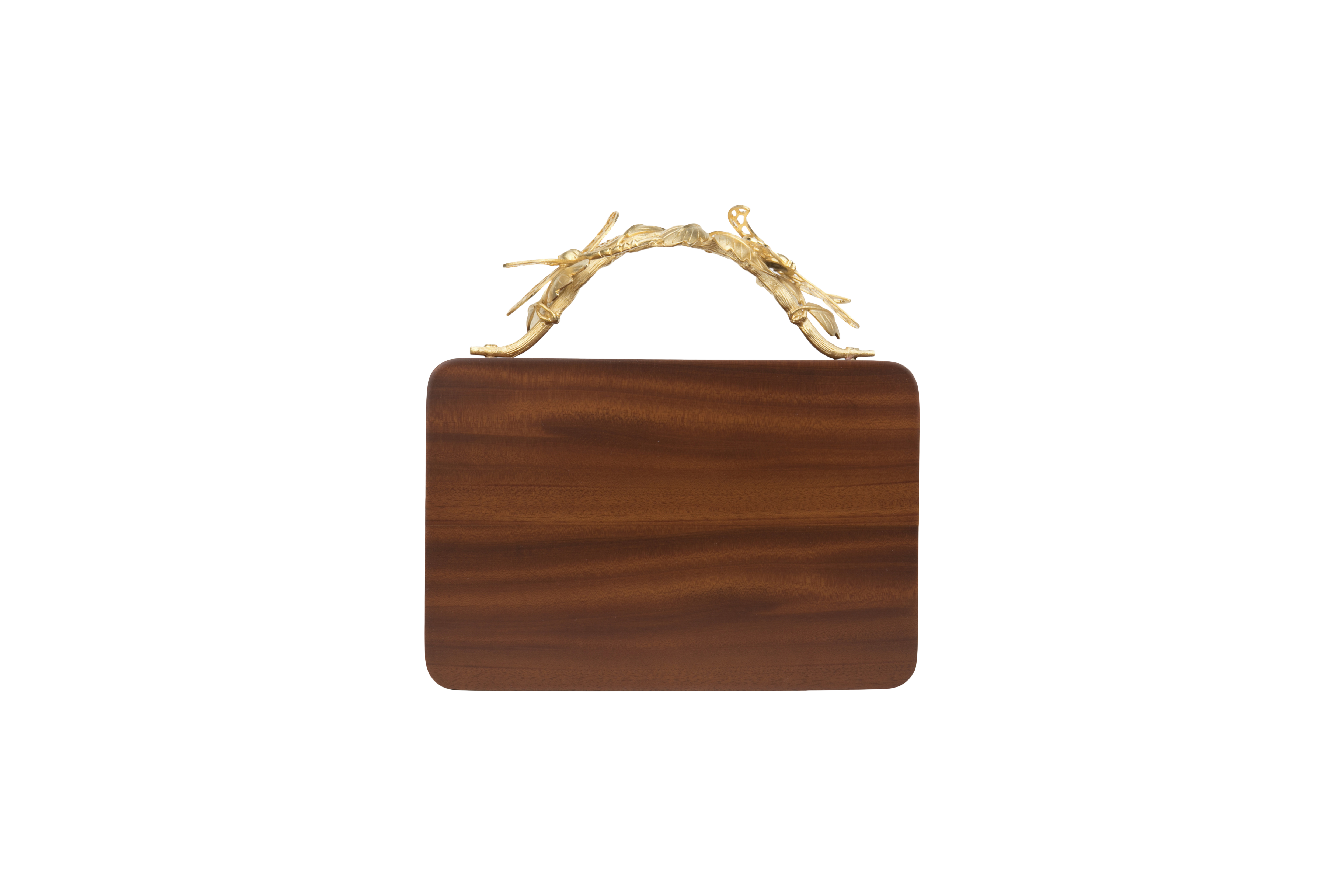 Triangle Wooden Grasshopper Clutch by Duet Luxury on curated-crowd.com
