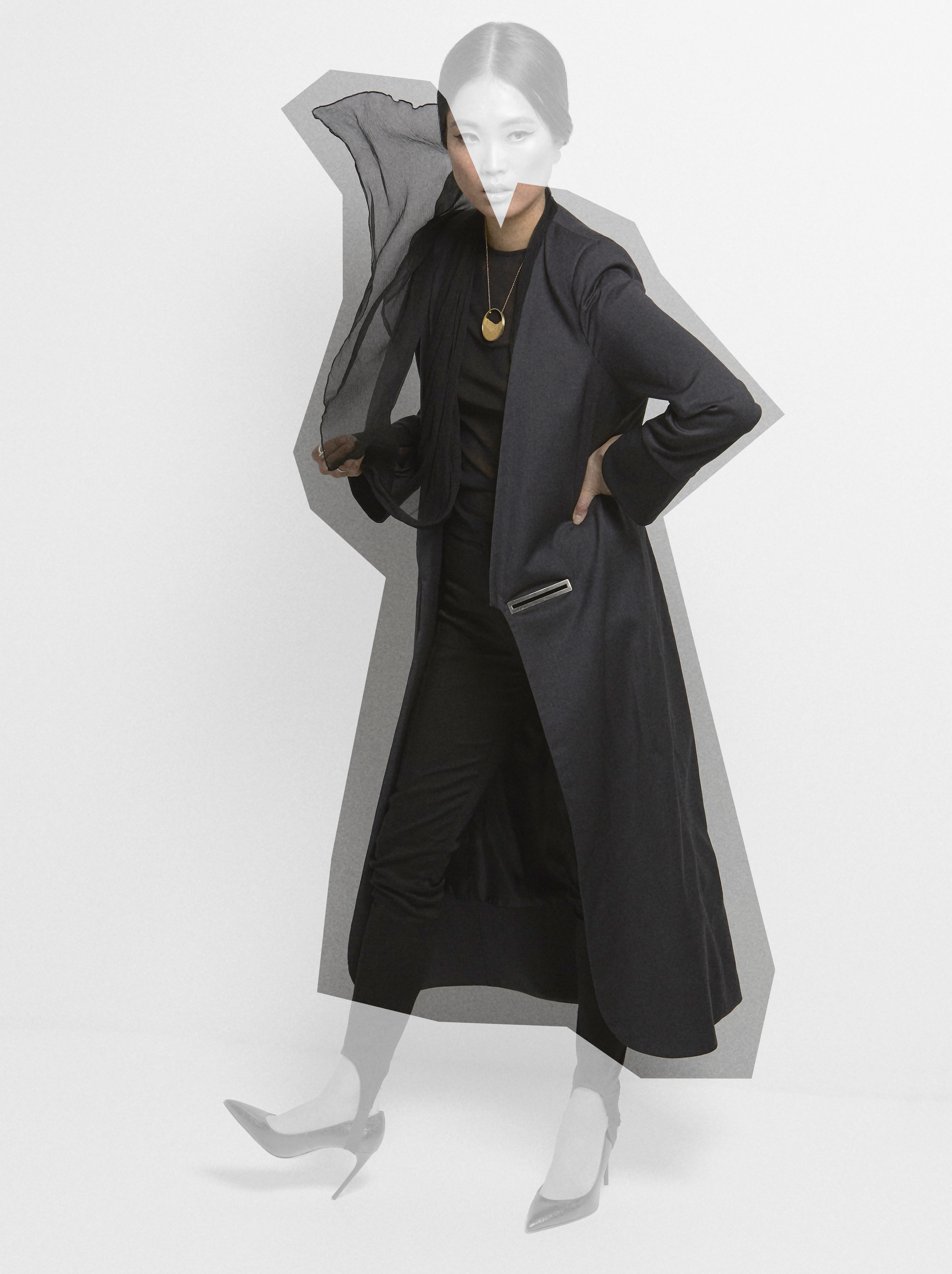Kodah Grey Coat by Sidikai on curated-crowd.com