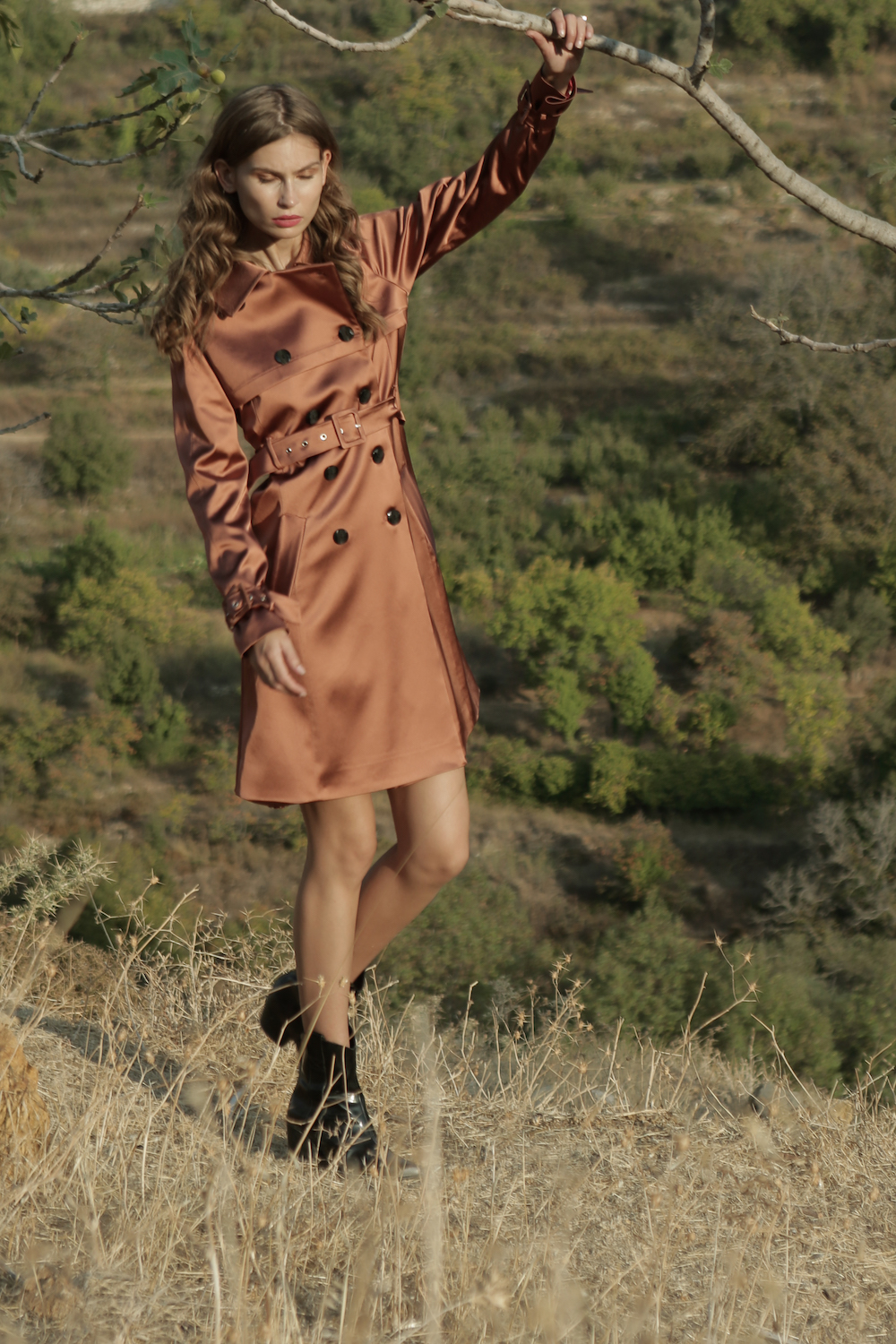 Short Trench Coat by Kimi Kimonos on curated-crowd.com