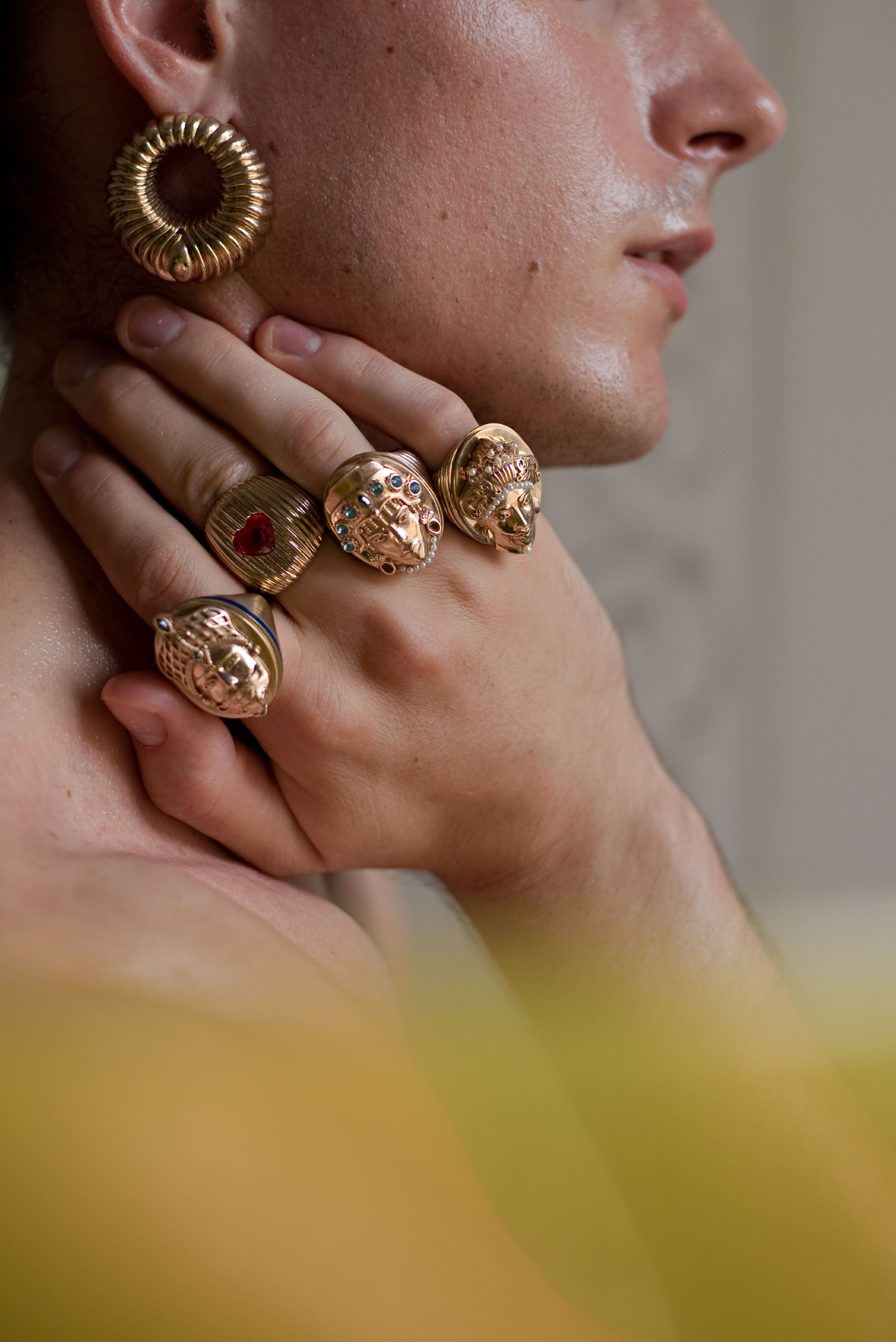 Moro Man - Gold Ring by Acchitto on curated-crowd.com