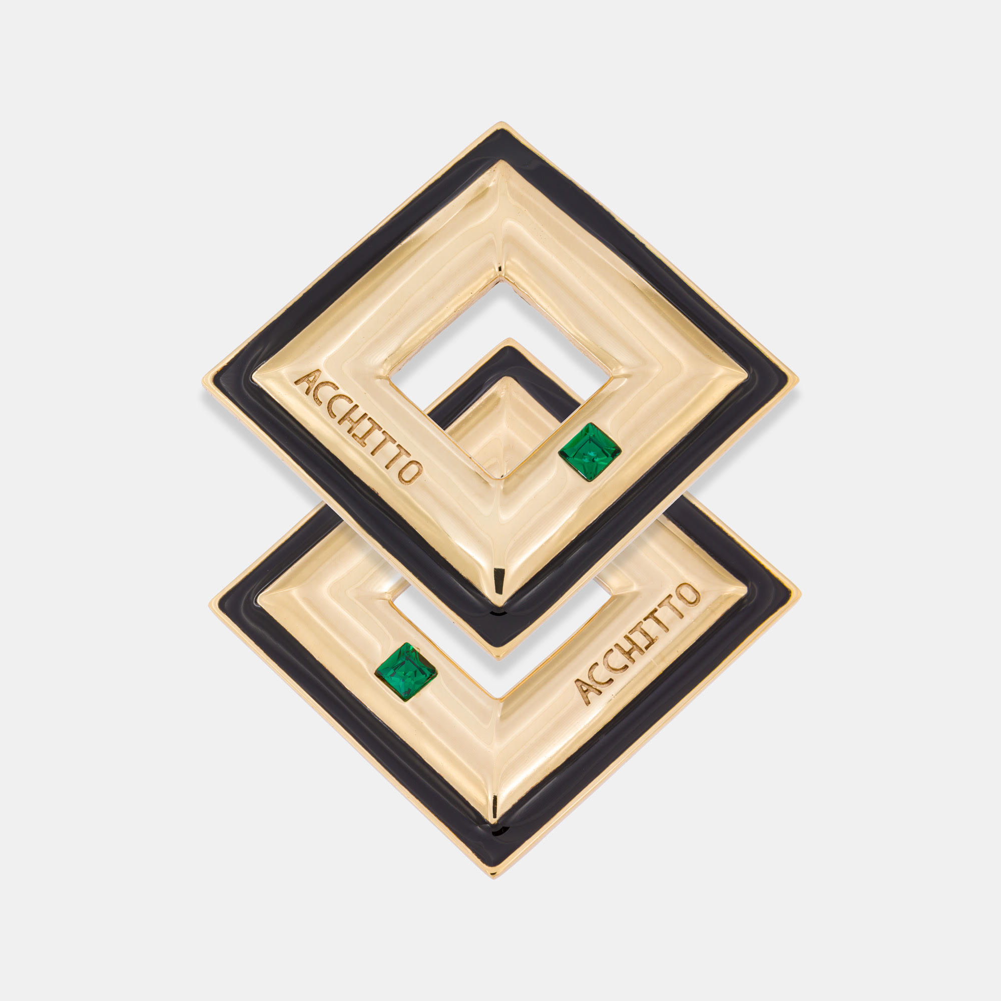 Aequour Square Earrings by Acchitto on curated-crowd.com