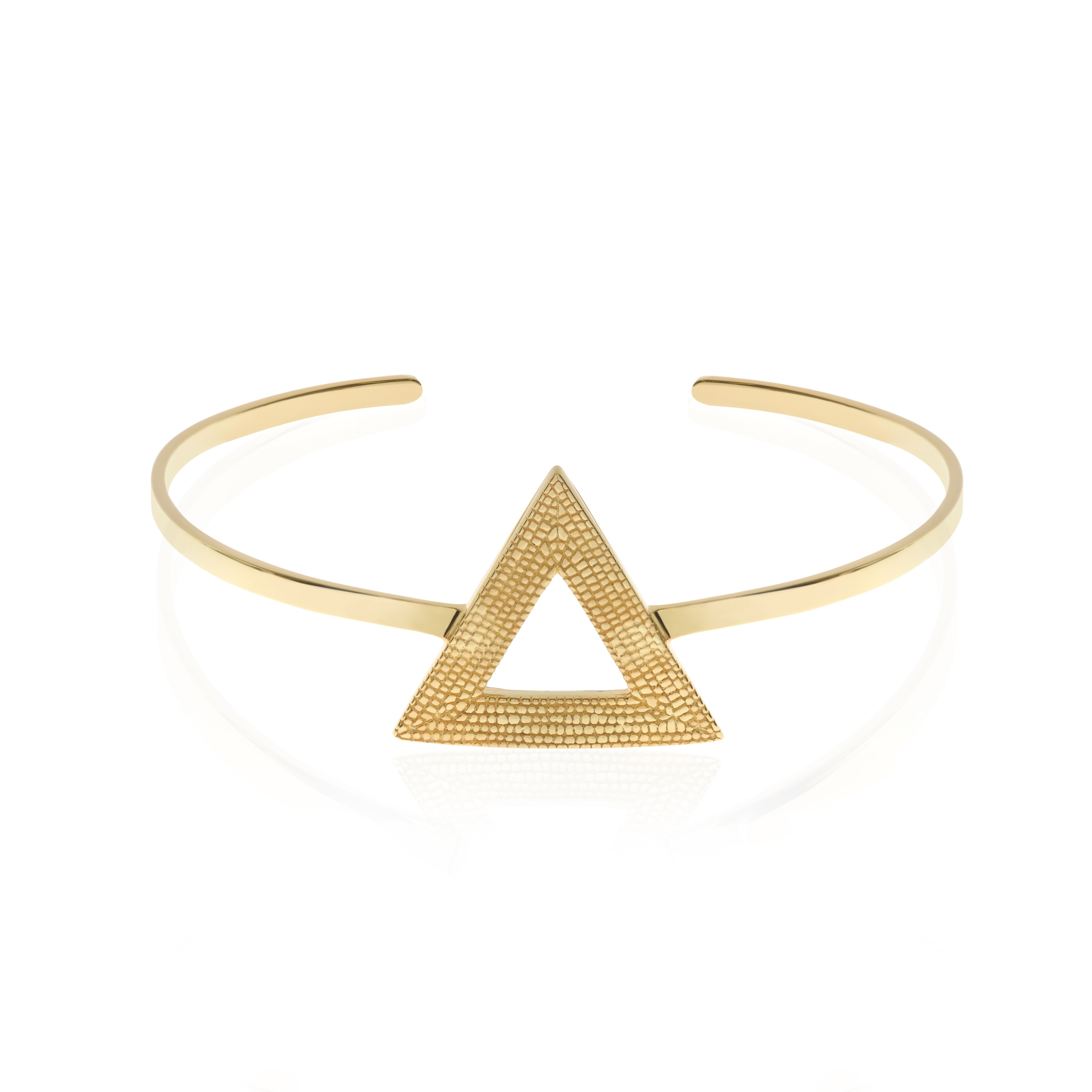 Who Says We Can't Change? Bangle/Cuff, Gold by Sally Lane Jewellery on curated-crowd.com