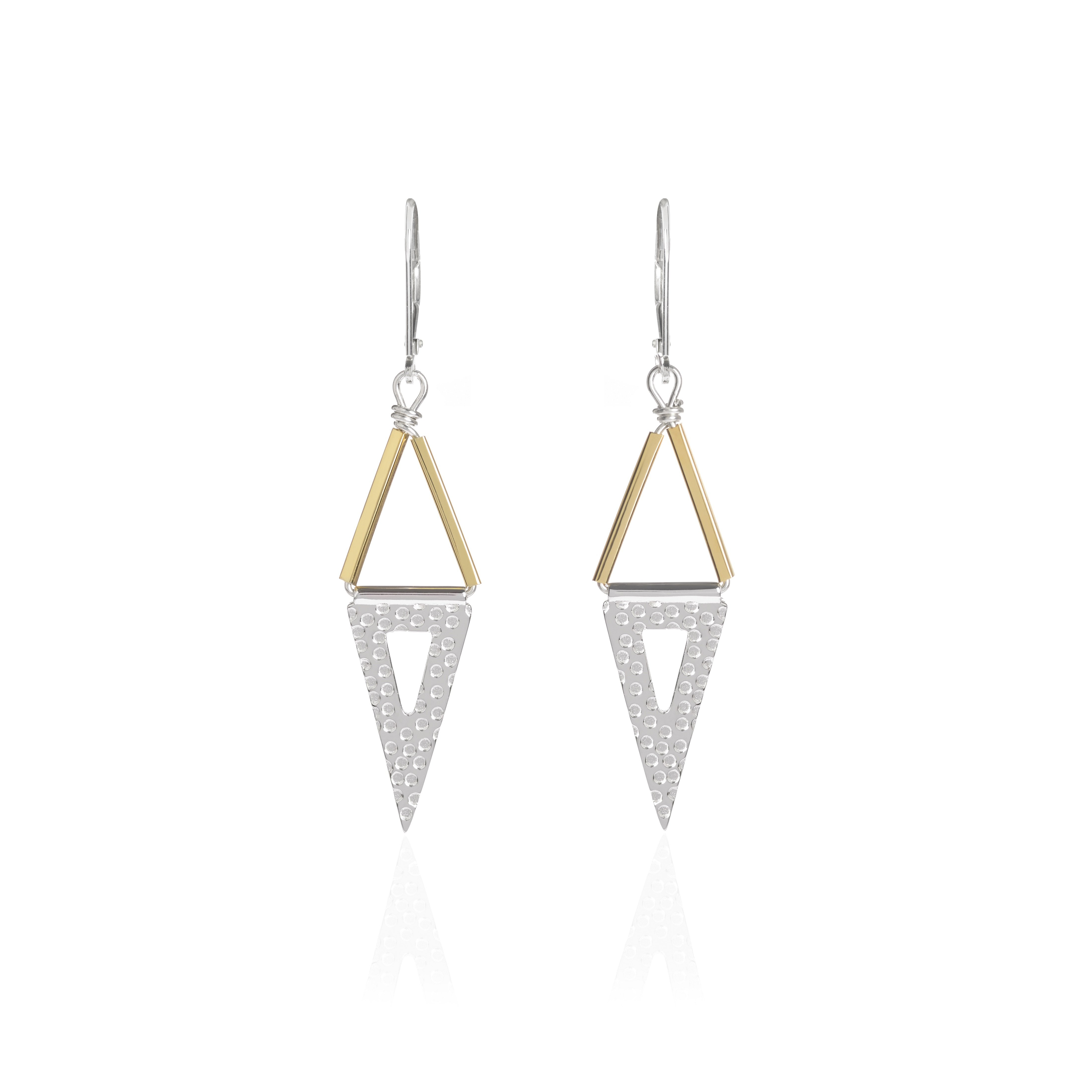 Carry Me, Silver and Gold Earrings by Sally Lane Jewellery on curated-crowd.com