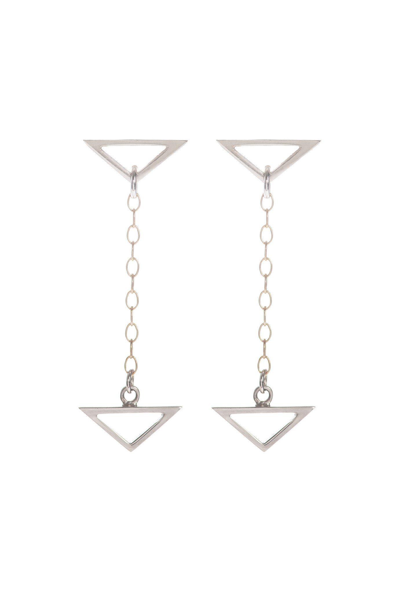 Hang Loose, Silver Drop Earrings by Sally Lane Jewellery on curated-crowd.com