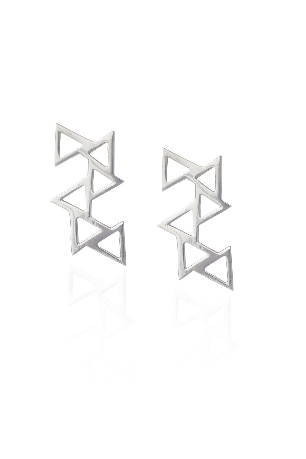 Ladder of Life, Silver Earrings by Sally Lane Jewellery on curated-crowd.com