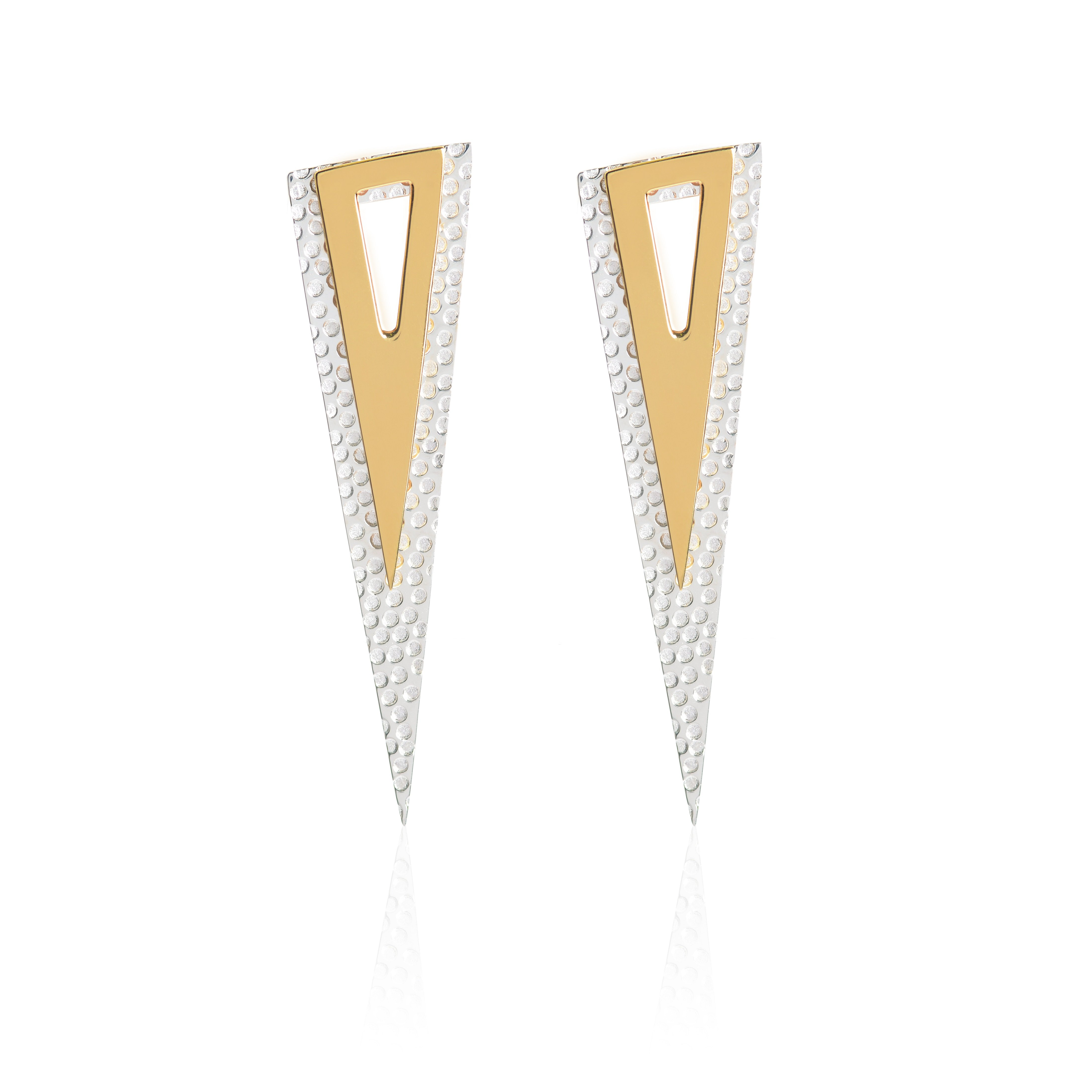 Who Says We Can't Change? Spike Earrings (5 in 1), Gold and Silver by Sally Lane Jewellery on curated-crowd.com