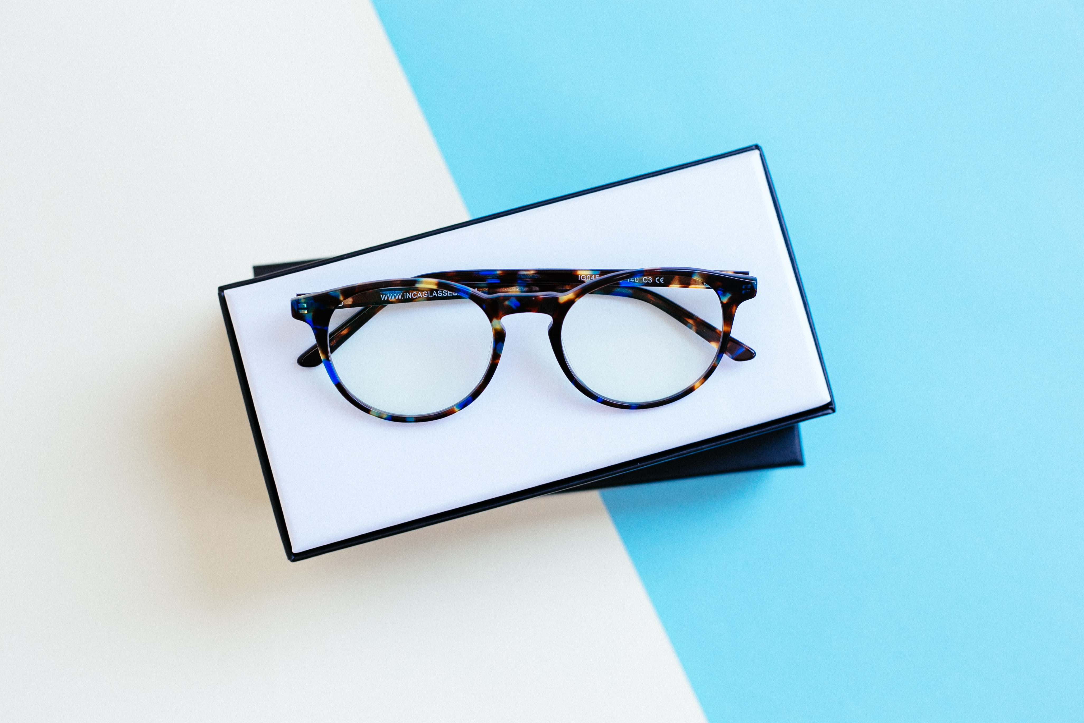 Blue Tortoiseshell INCA Classics by Inca Glasses on curated-crowd.com