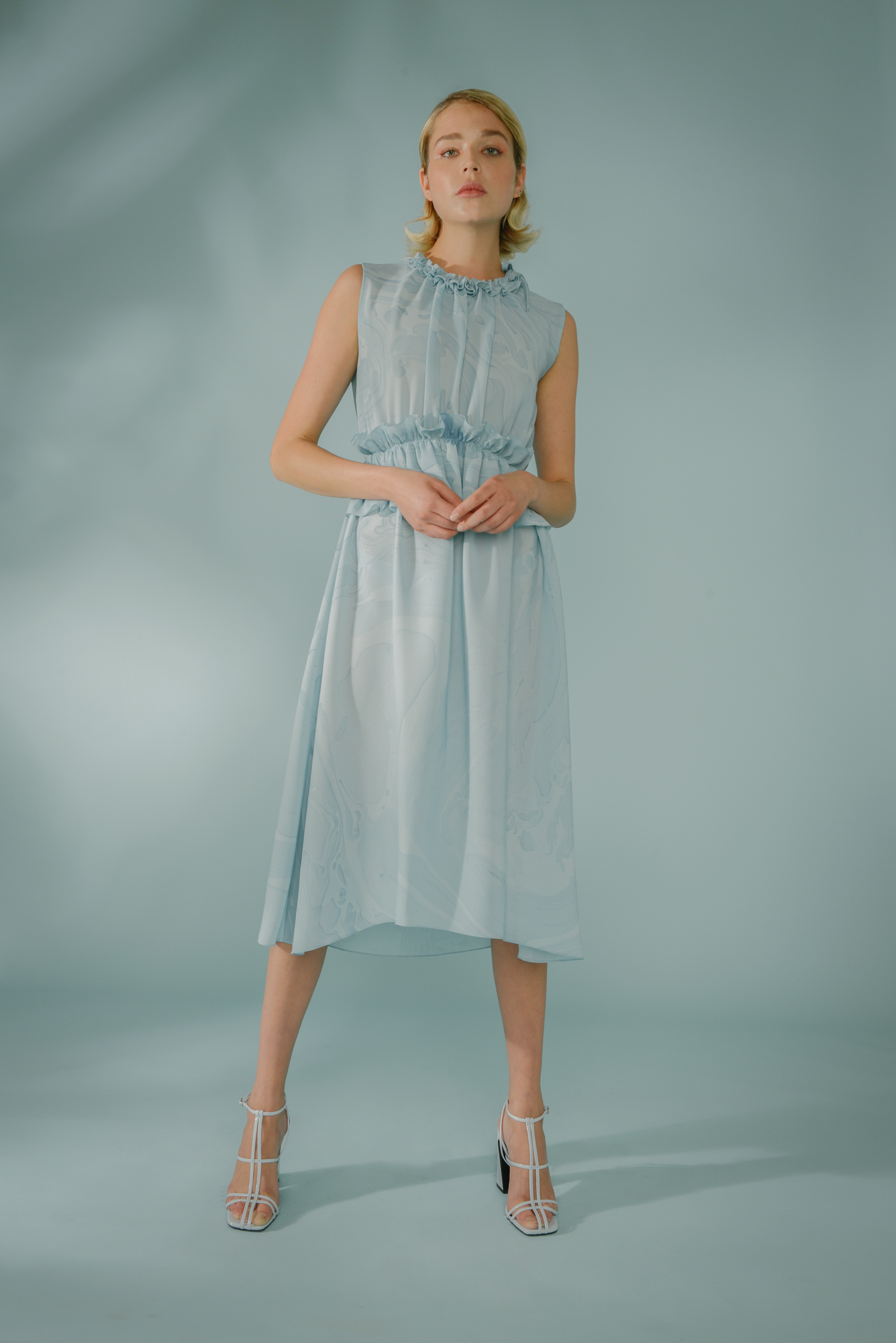 Raw Ruffle Dress by Edward Mongzar on curated-crowd.com