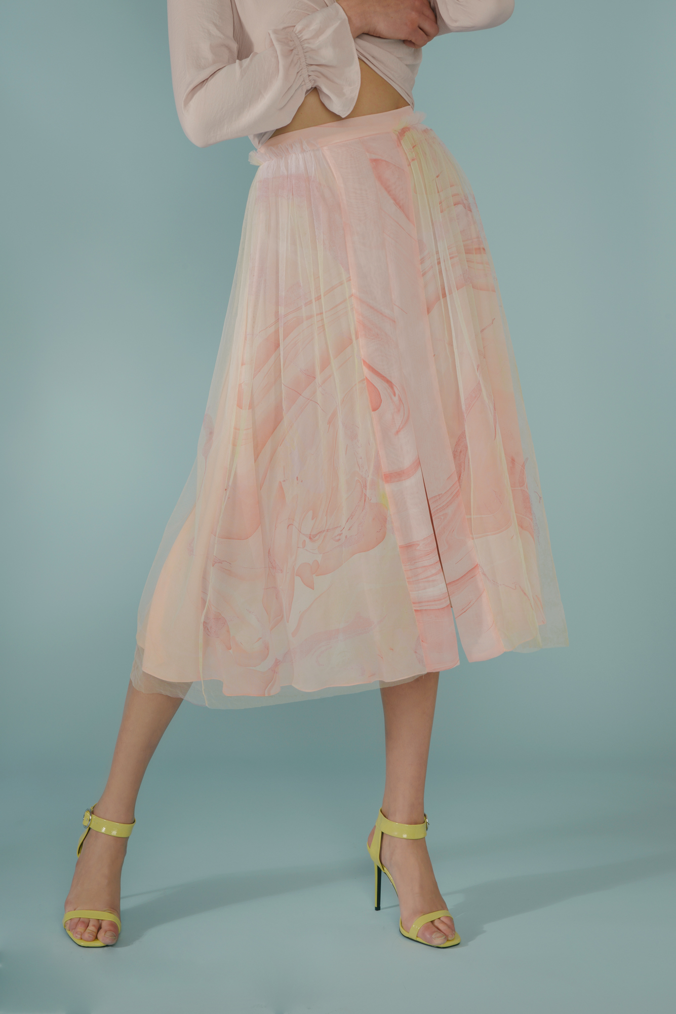 Marbled Semi Slit Skirt by Edward Mongzar on curated-crowd.com