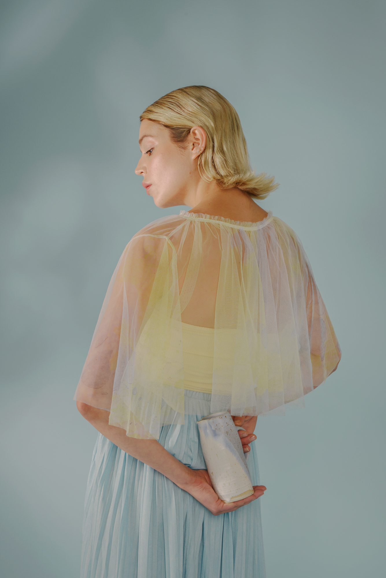 Raw Edge Cut Top by Edward Mongzar on curated-crowd.com