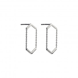 Line Earrings by The Straits Finery on curated-crowd.com