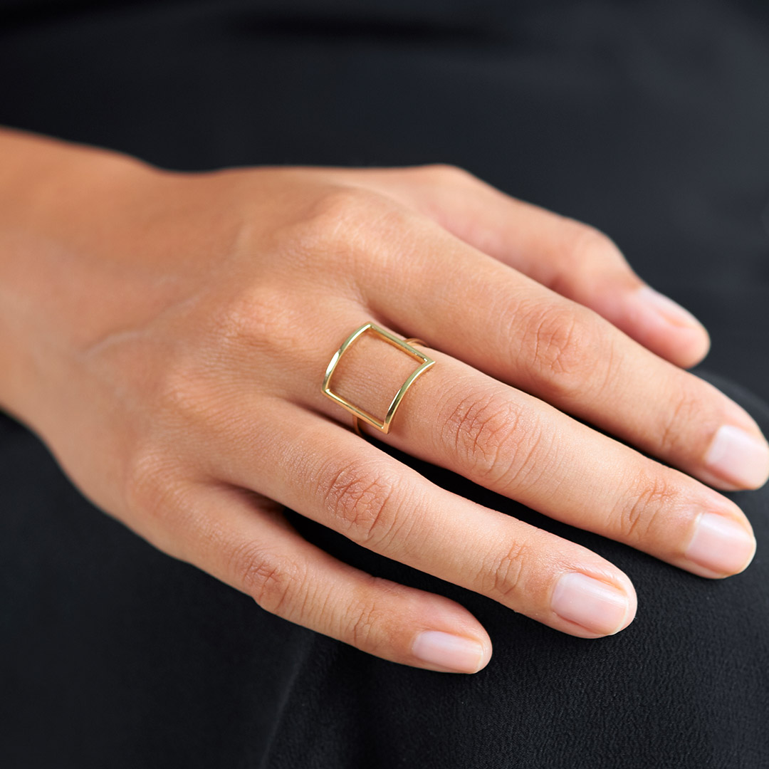 Frame Ring by The Straits Finery on curated-crowd.com