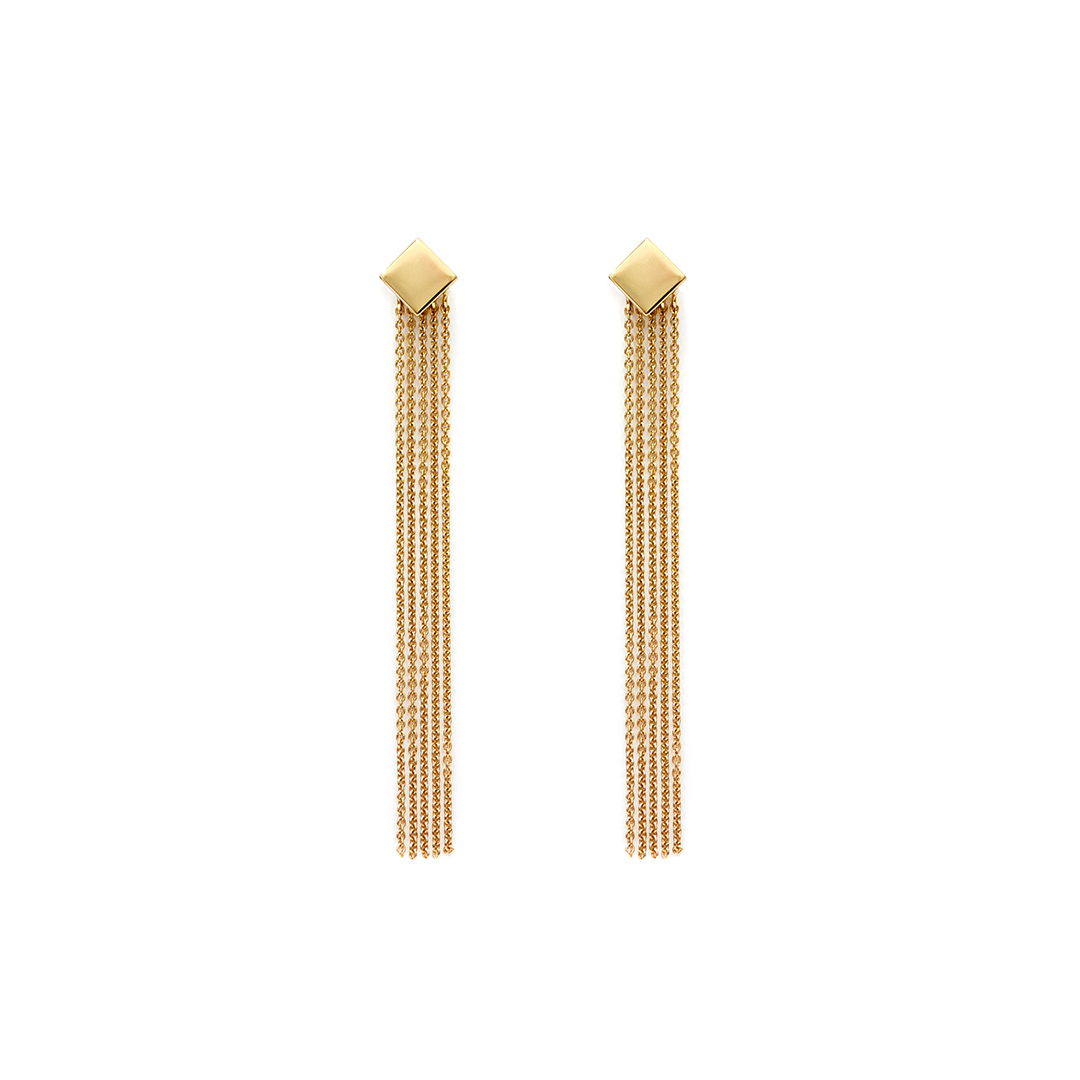 Rosie Earrings, 14k Gold by The Straits Finery on curated-crowd.com