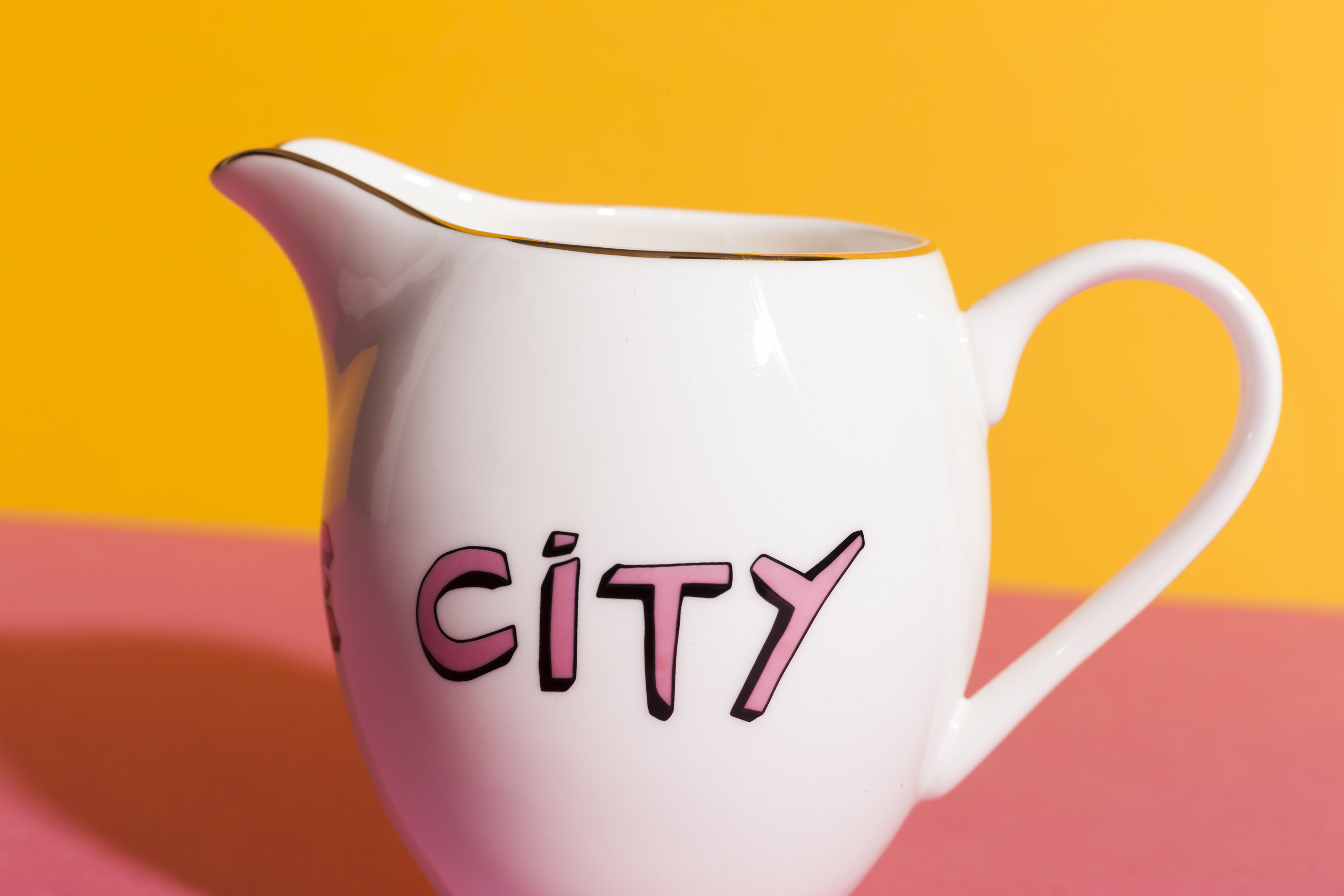 Bella Freud x Gillian Wearing Range Suffragette City Milk Jug by Plinth on curated-crowd.com