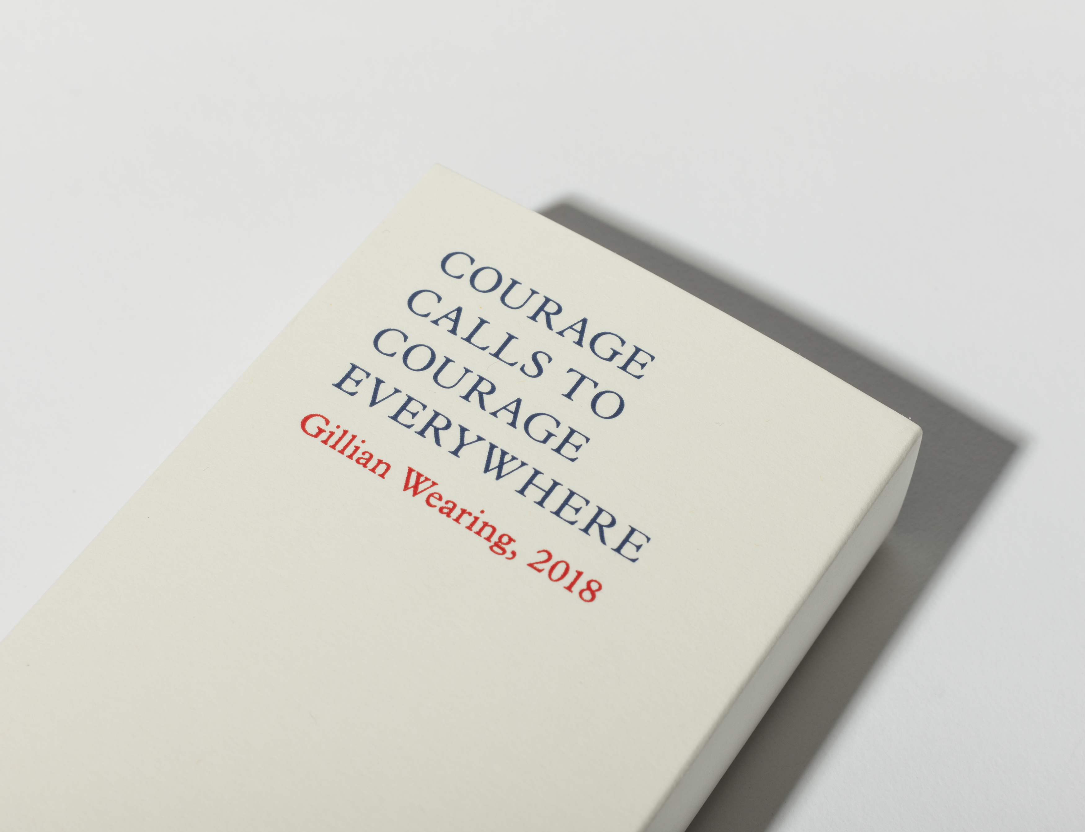 Gillian Wearing Courage Calls to Courage Everywhere Handkerchief by Plinth on curated-crowd.com