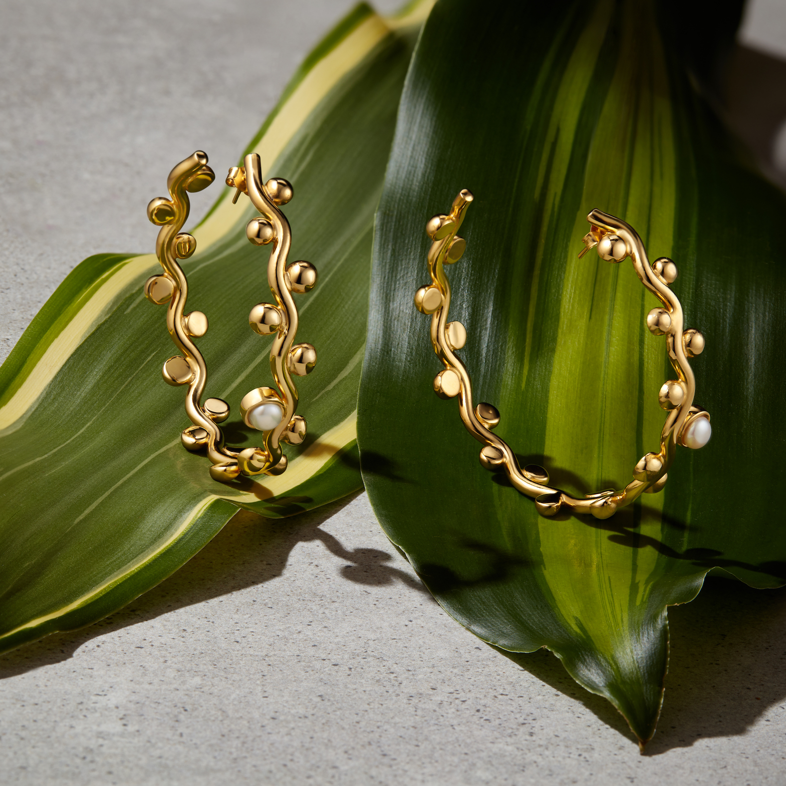 Curvez Two Pearl Coquetas by Jill Hopkins Jewellery on curated-crowd.com