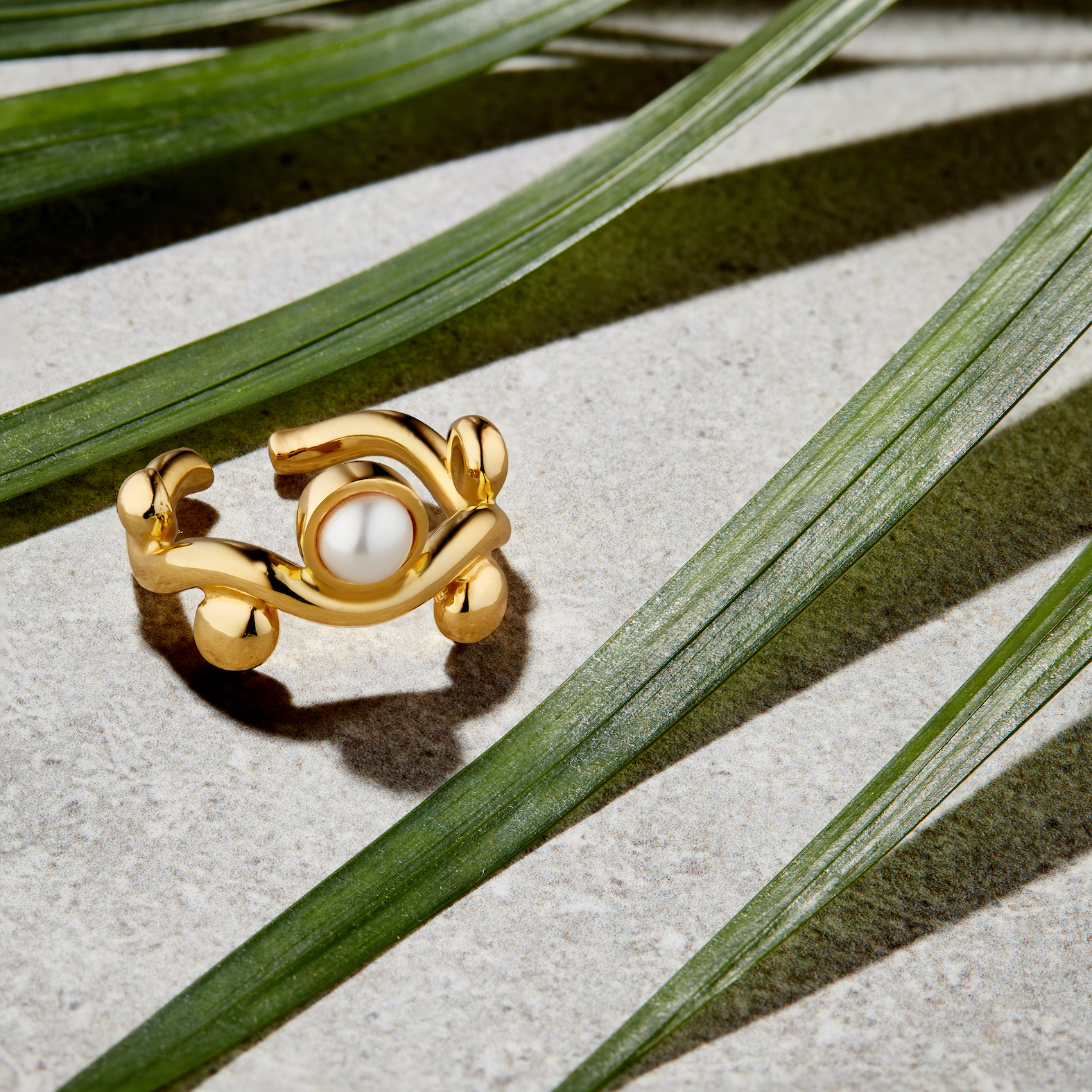 Pearl Coqueta Ring by Jill Hopkins Jewellery on curated-crowd.com