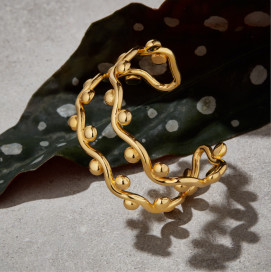 Chunky Duo Curvez Bracelet by Jill Hopkins Jewellery on curated-crowd.com