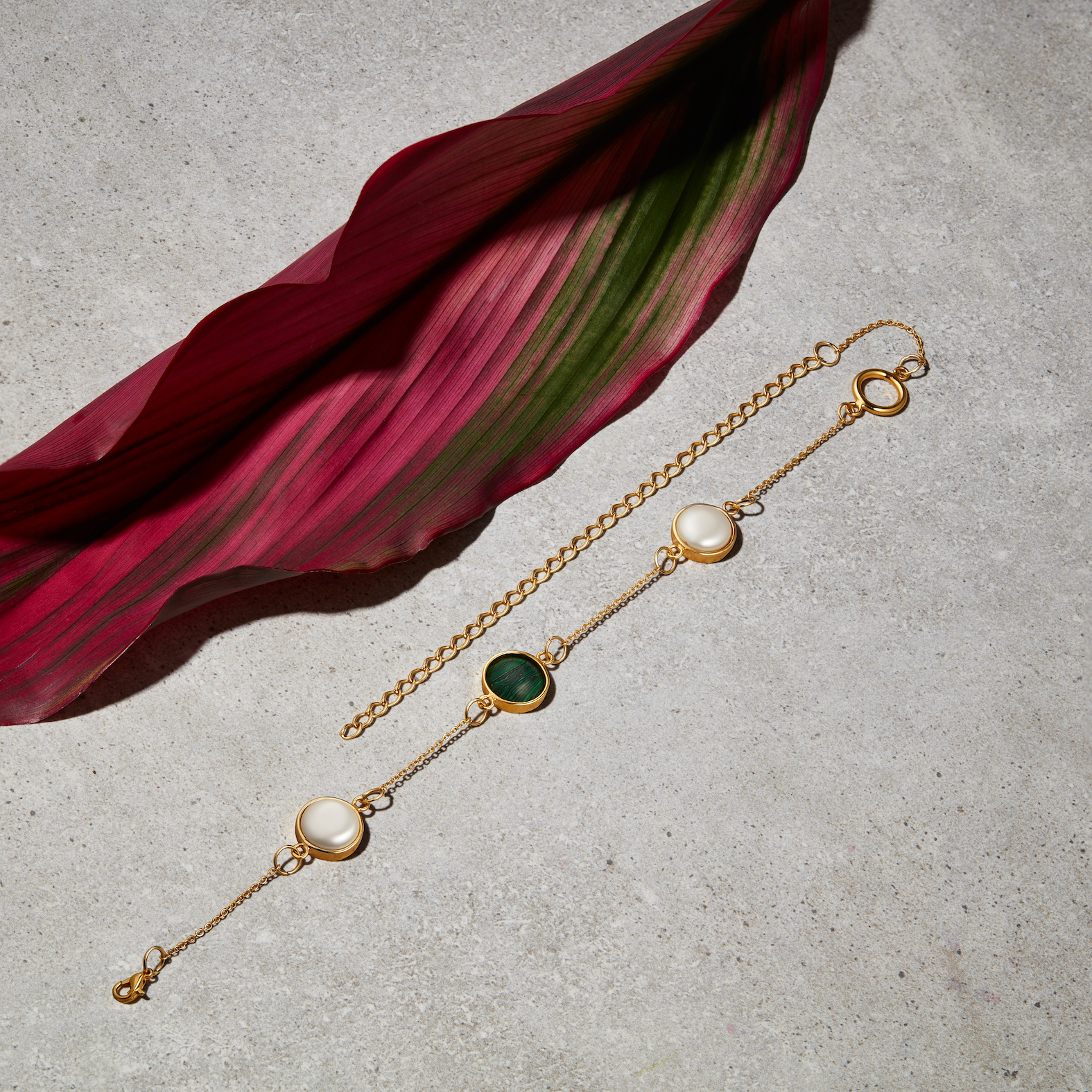 Malachite and Pearl Choker by Jill Hopkins Jewellery on curated-crowd.com