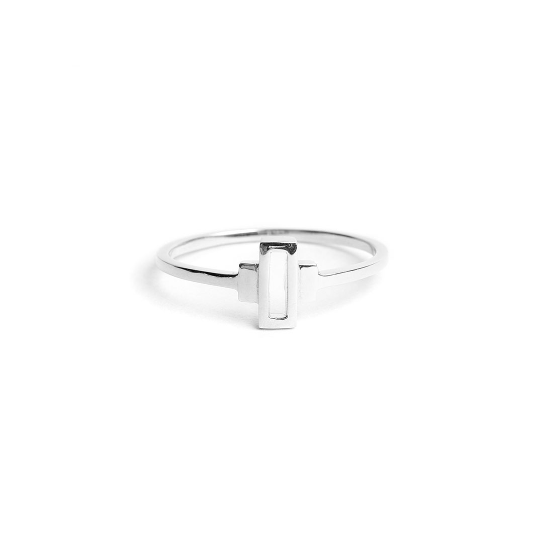 Keystone Ring, Silver by The Straits Finery on curated-crowd.com