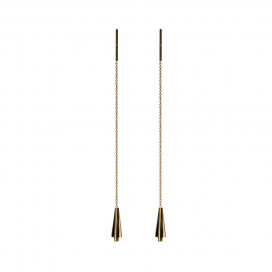 Keystone Earrings, 14k Gold by The Straits Finery on curated-crowd.com