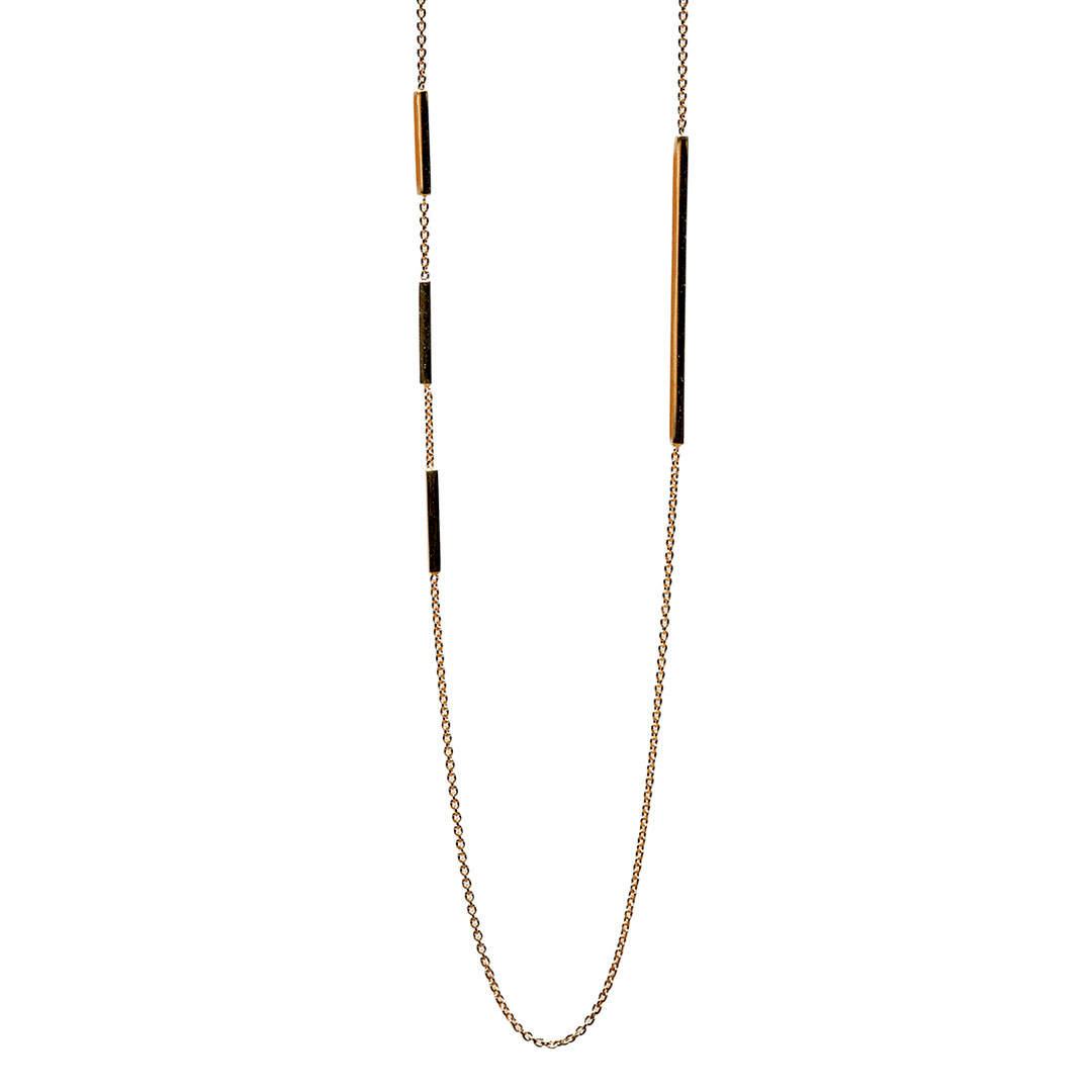 Edge Necklace, 14k Gold by The Straits Finery on curated-crowd.com