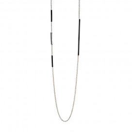 Edge Necklace, Silver by The Straits Finery on curated-crowd.com