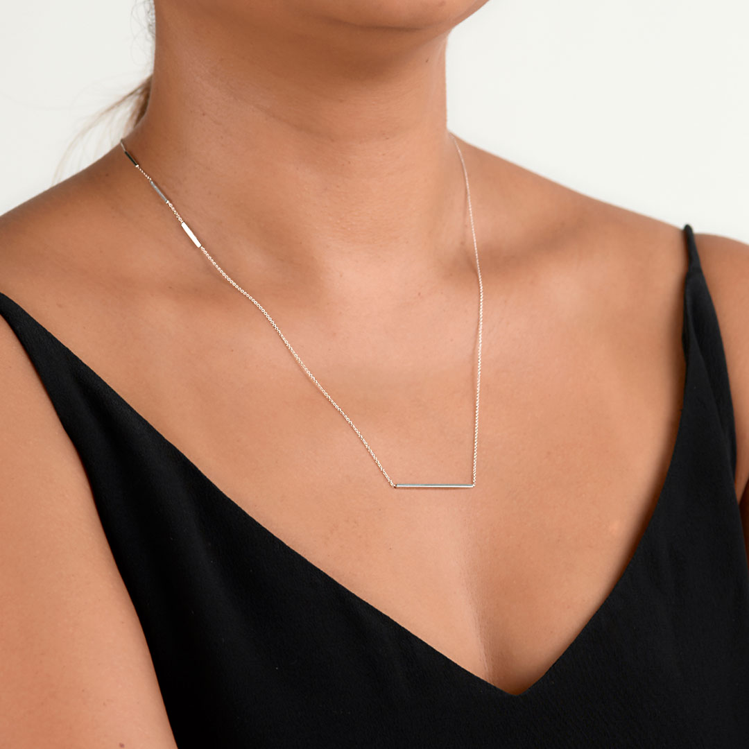 Edge Necklace by The Straits Finery on curated-crowd.com