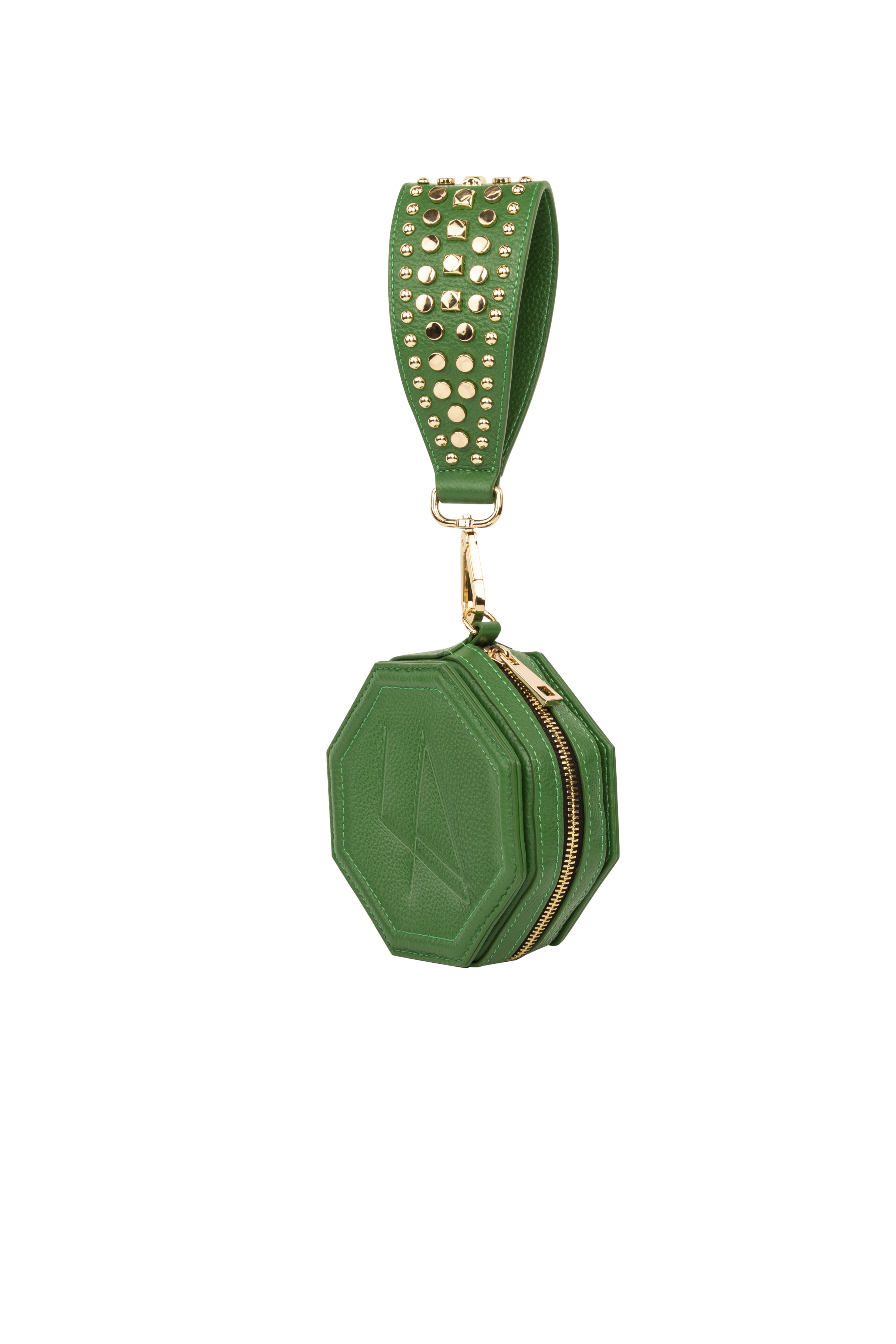 Donya Octagon Clutch - Green by Luna Amani on curated-crowd.com