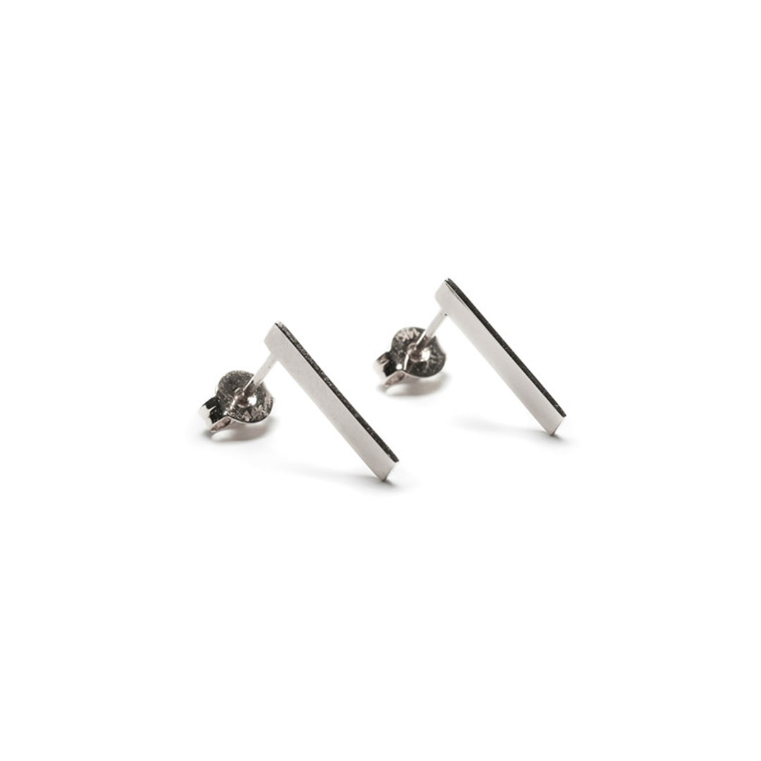 Edge Earrings, Silver by The Straits Finery on curated-crowd.com