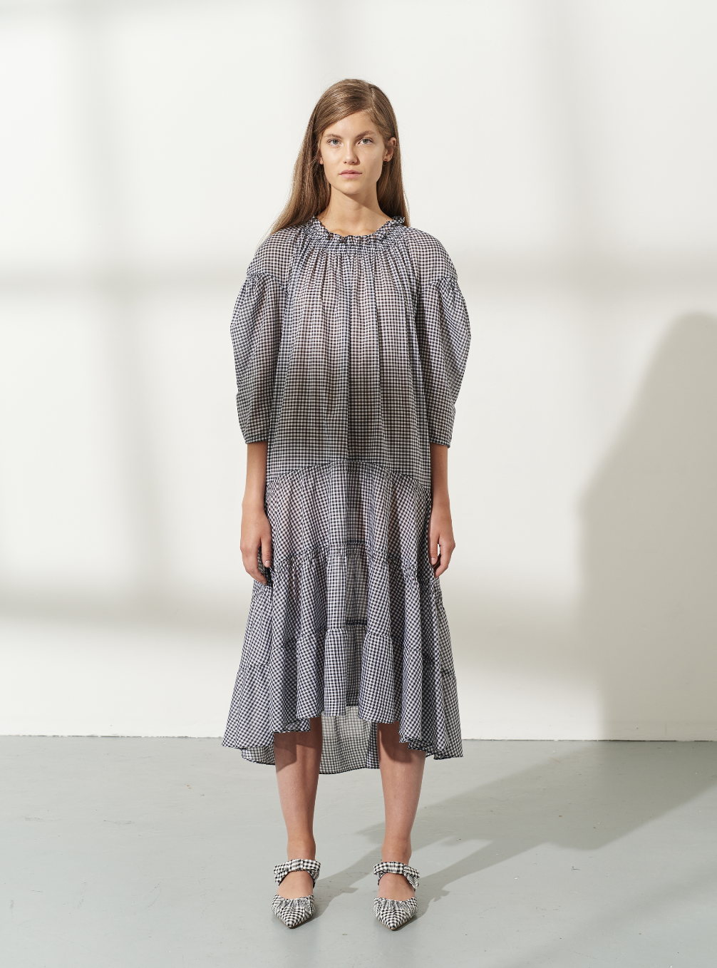 Coburg Voile Midi Shirt Dress by Teija on curated-crowd.com