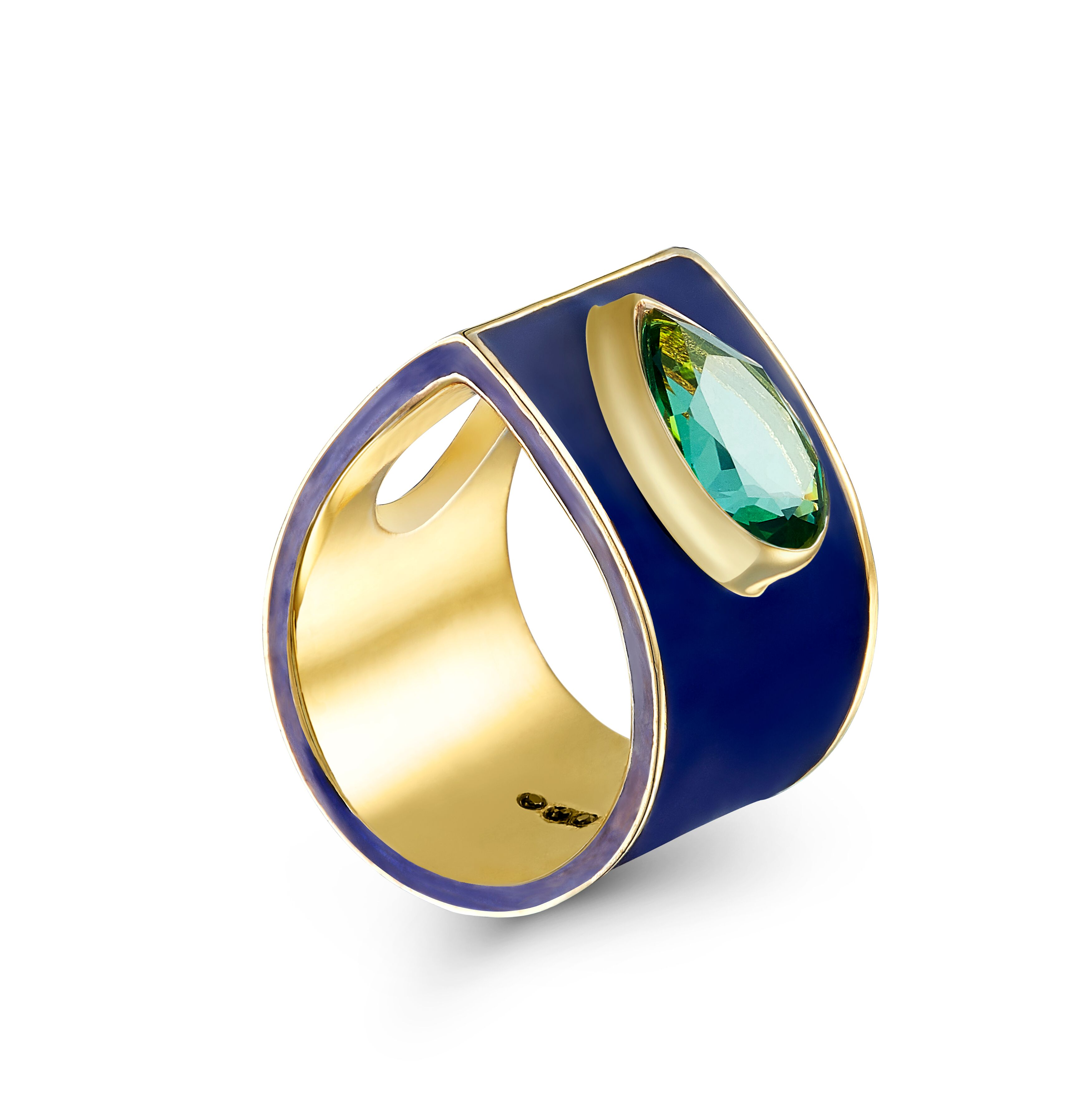Archer's Ring Peacock Blue by Taal Noir on curated-crowd.com