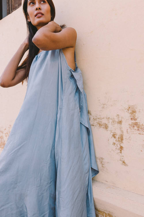 Syros Silk Dress by A Perfect Nomad on curated-crowd.com