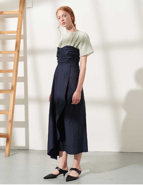 Ruched Bodice Jumpsuit by Teija on curated-crowd.com