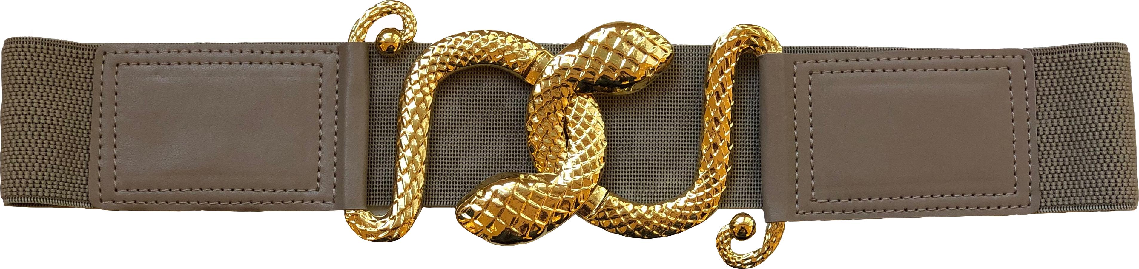 Snake Bite Belt - Beige by Sorbé on curated-crowd.com