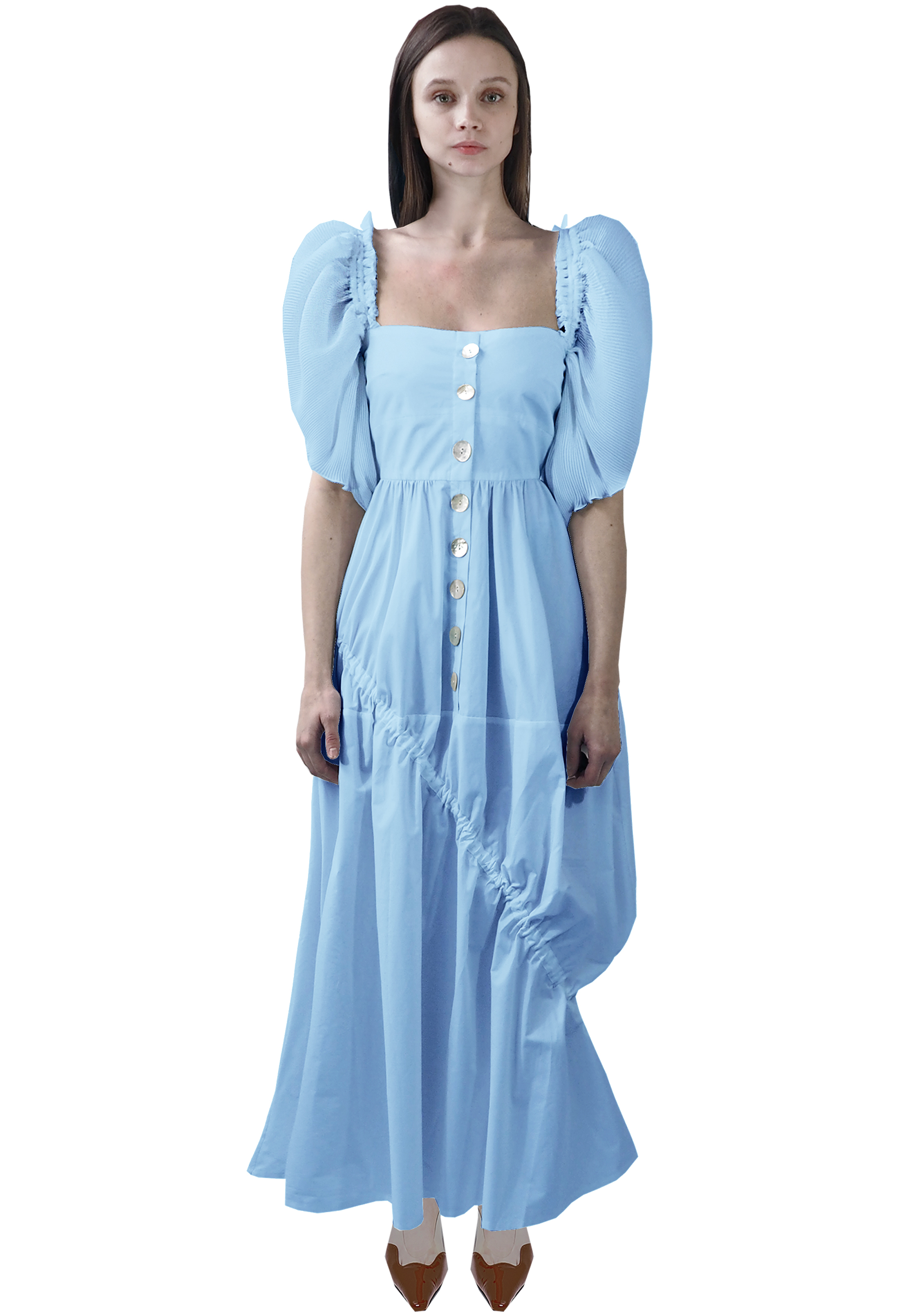 Elena Dress, Candy Blue by Georgia Hardinge on curated-crowd.com