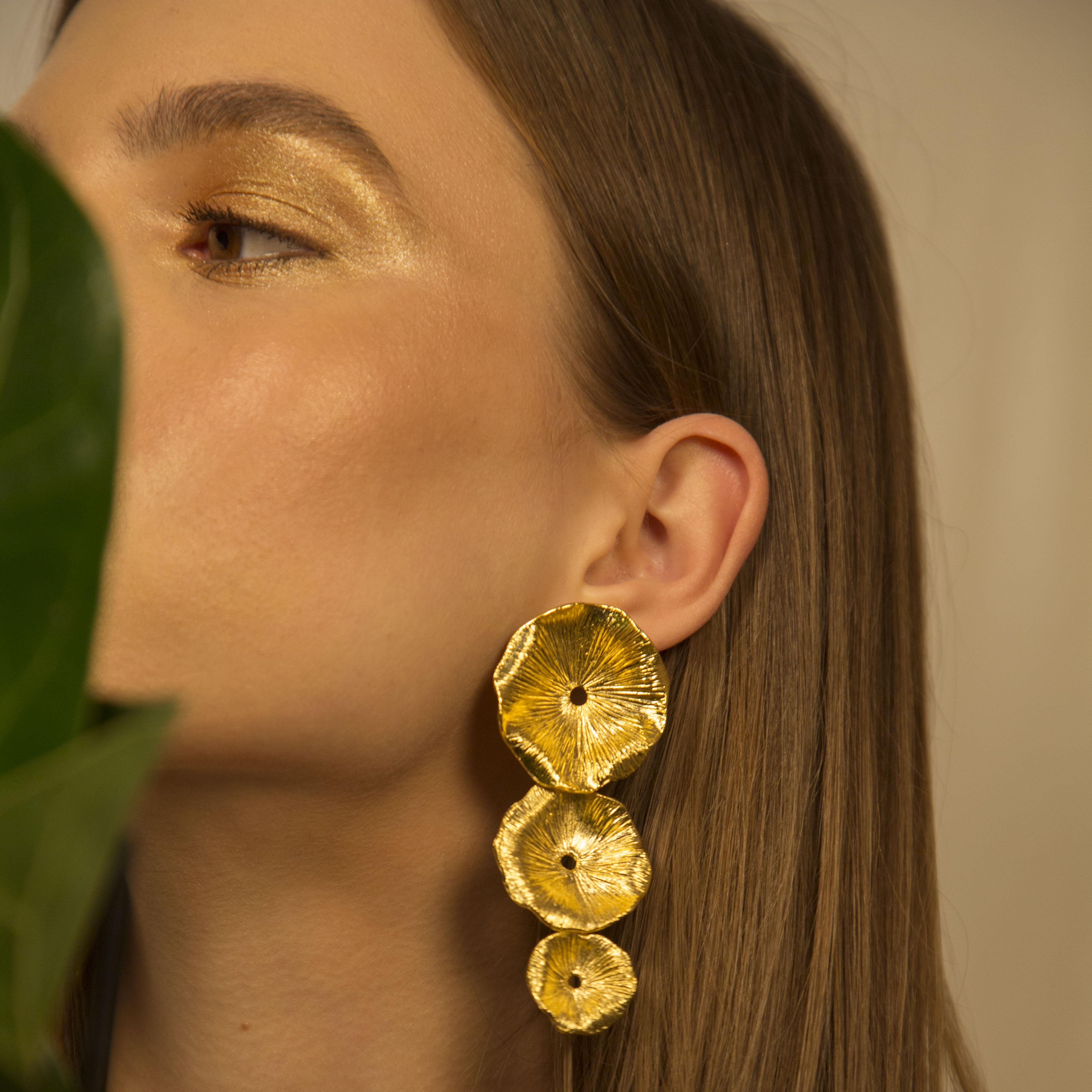 Triple Mushroom Earrings by Lynyer on curated-crowd.com