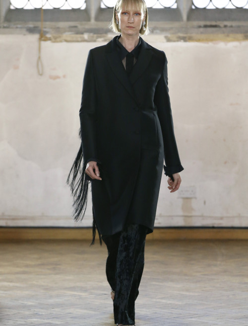 Fringed Seam Tailored Coat by Sharon Wauchob on curated-crowd.com