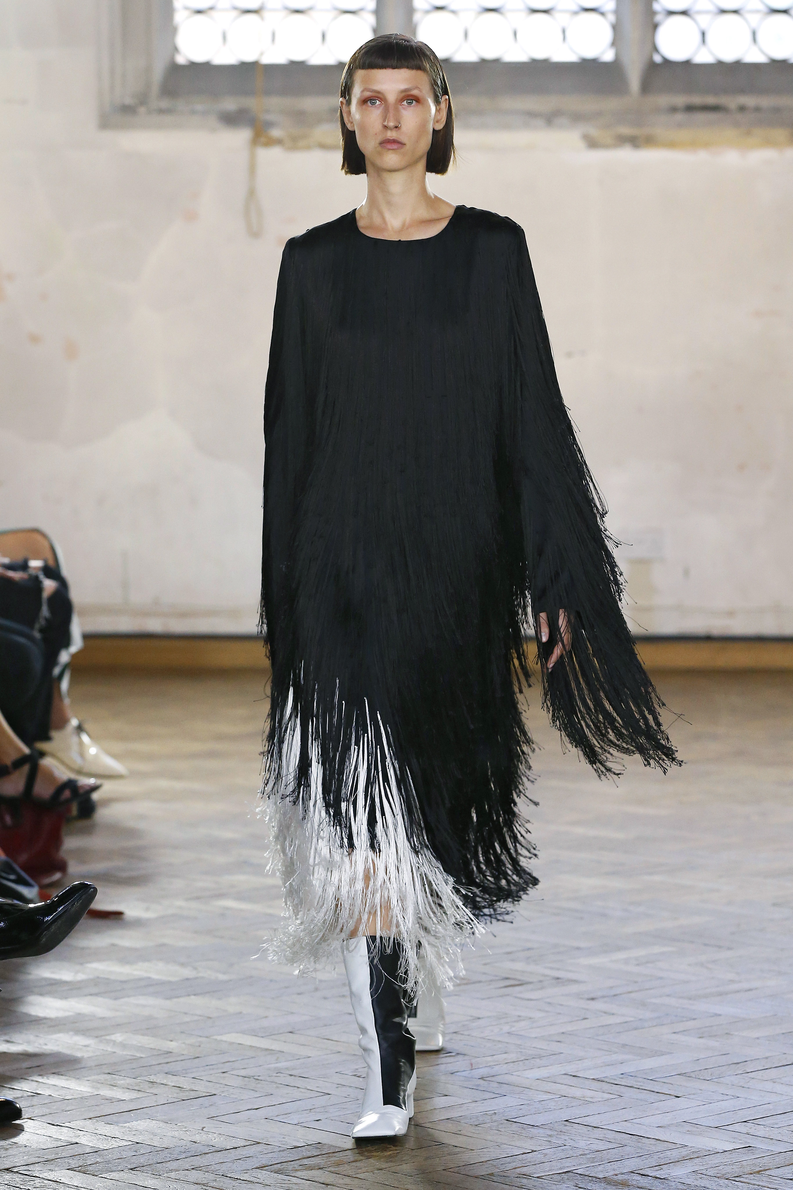 Monochrome Fringe Dress by Sharon Wauchob on curated-crowd.com